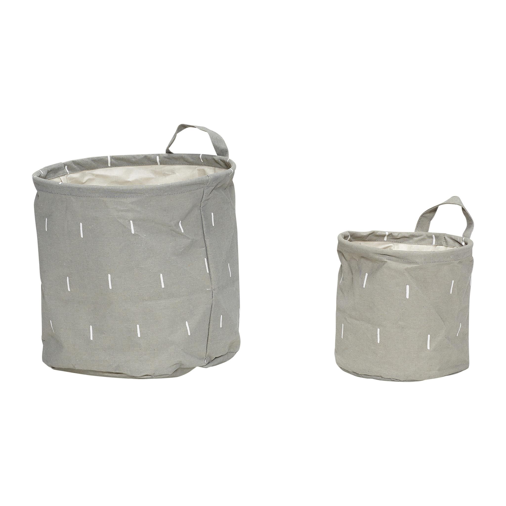 Hubsch Mand met patroon, handvat, rond, papier, grijset van wit, 2-230605-5712772042892