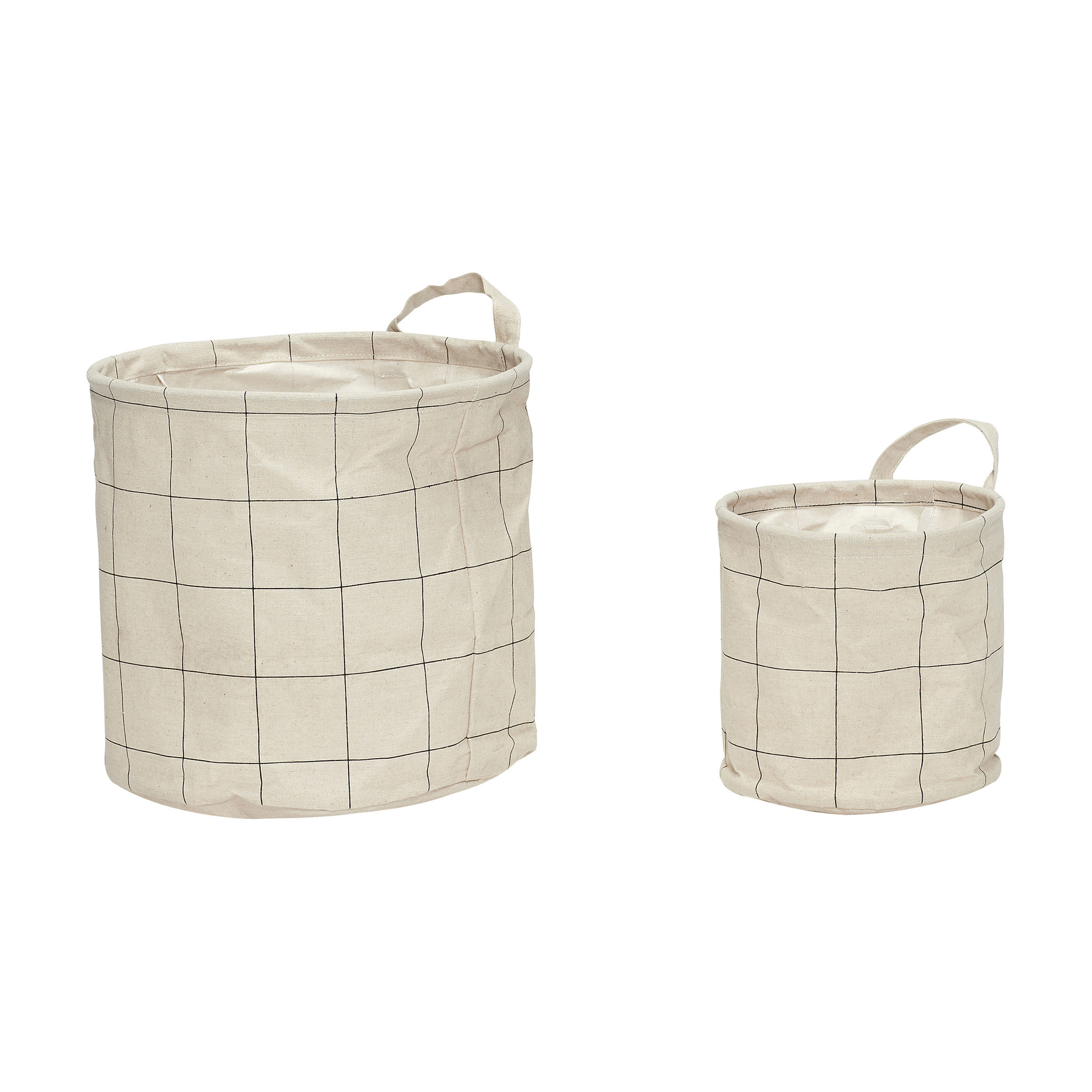 Hubsch Mand met patroon, handvat, rond, papier, grijset van wit, 2