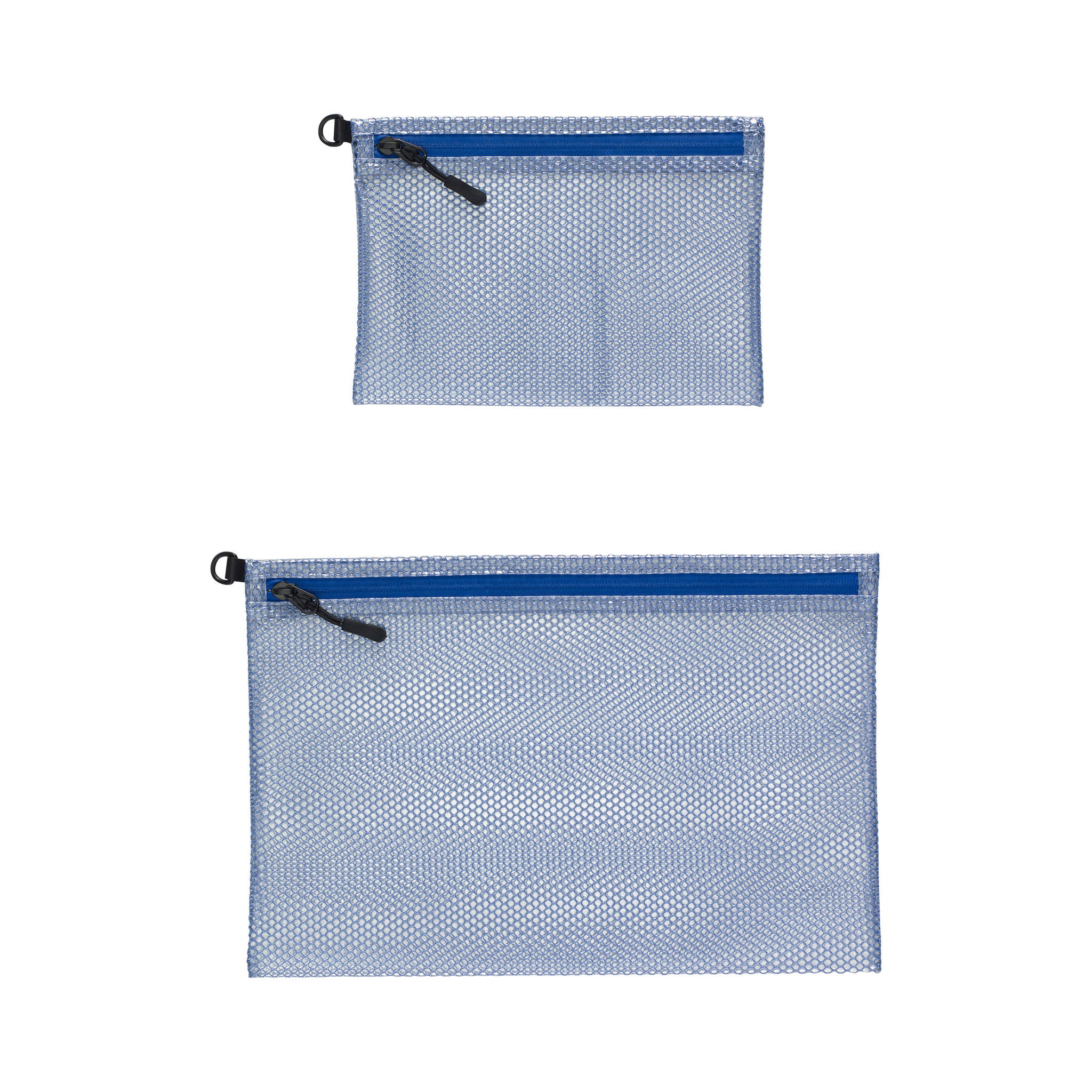 Hubsch Etui met ritssluiting, blauw, set van 2-260802-5712772038765