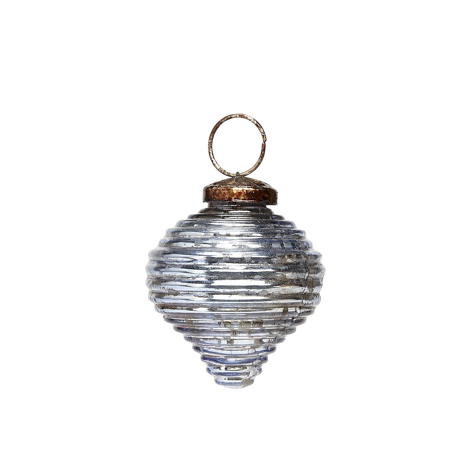 Hubsch Kerstbal met groeven, blauw