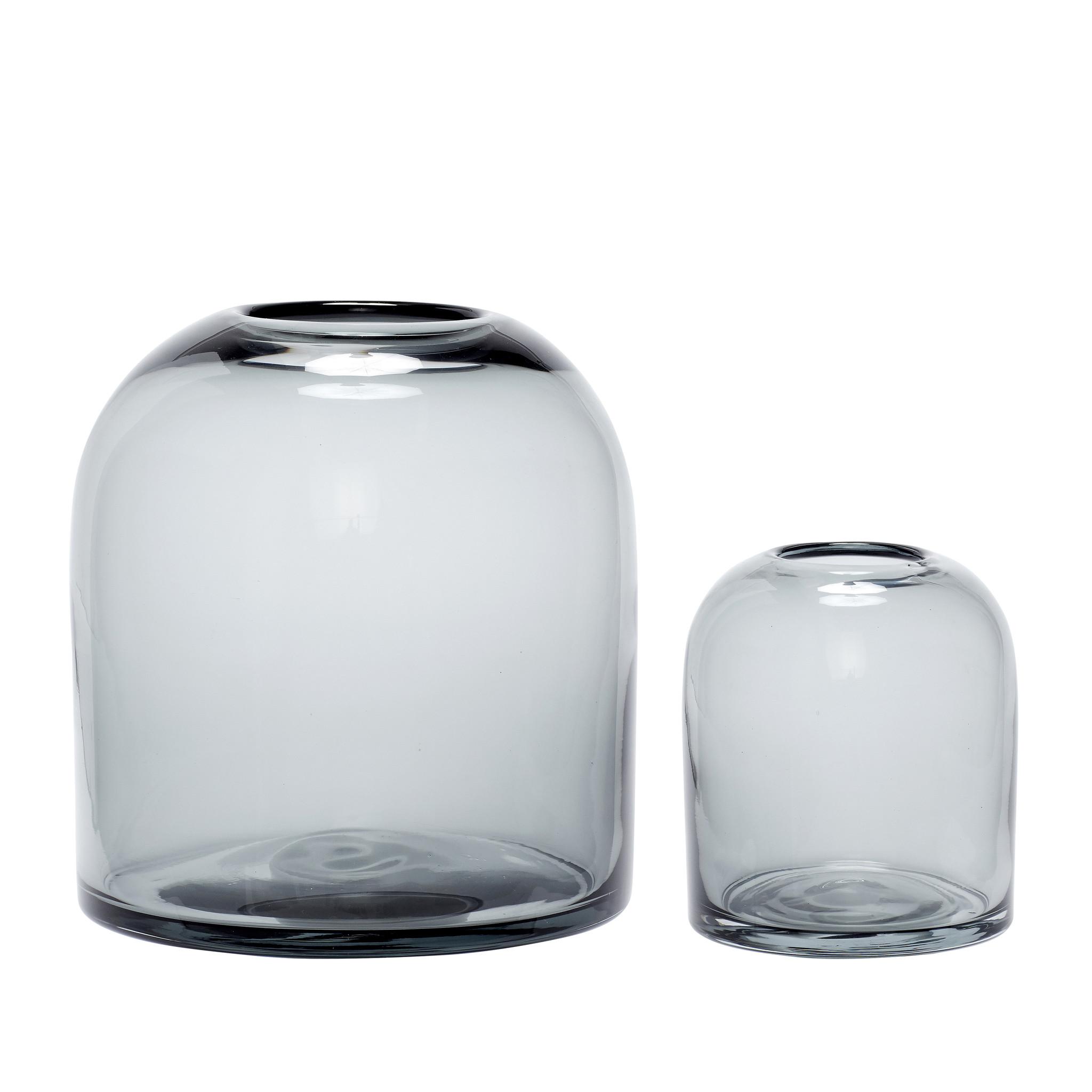 Hubsch Vaas, glas, gerookt, set van 2-280501-5712772056608