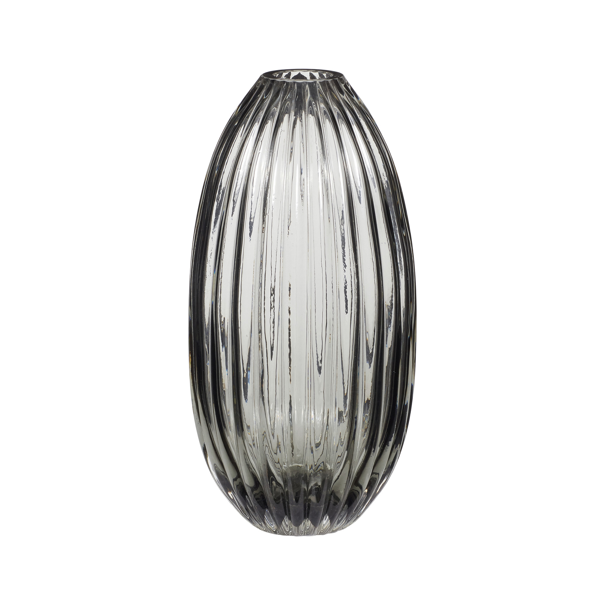 Hubsch Vaas, glas, gerookt-280609-5712772064641