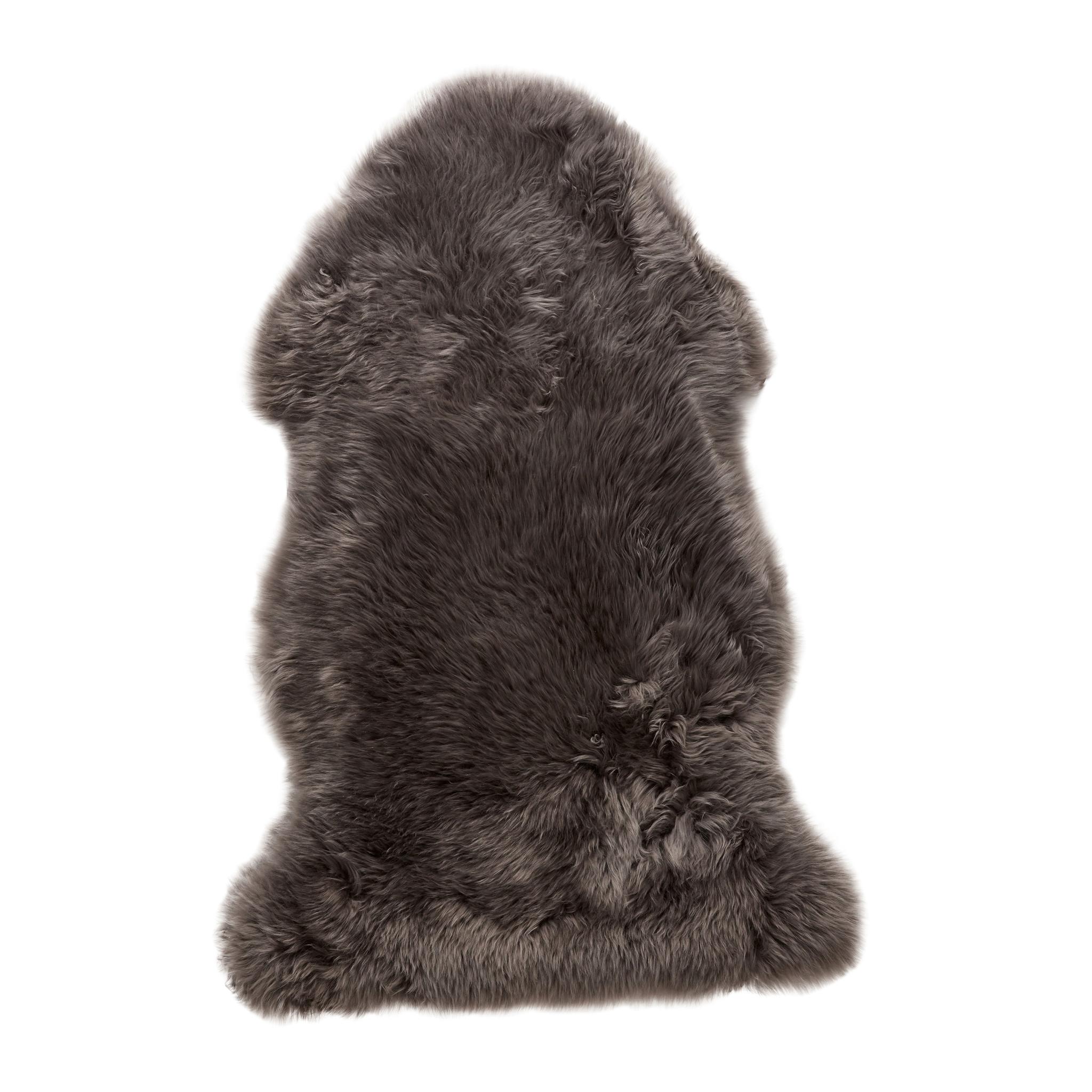 Hubsch Tapijt van schapenvacht, kortharig, grijs