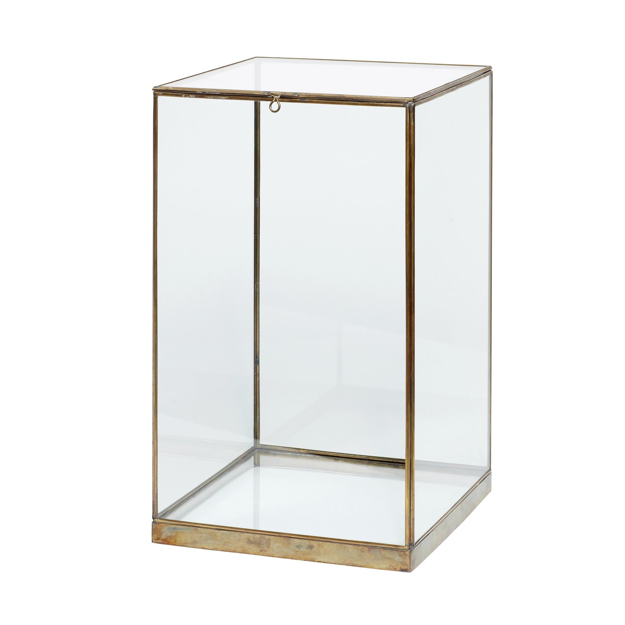 Hubsch Display, messing / glas, klein-310203-5712772065457