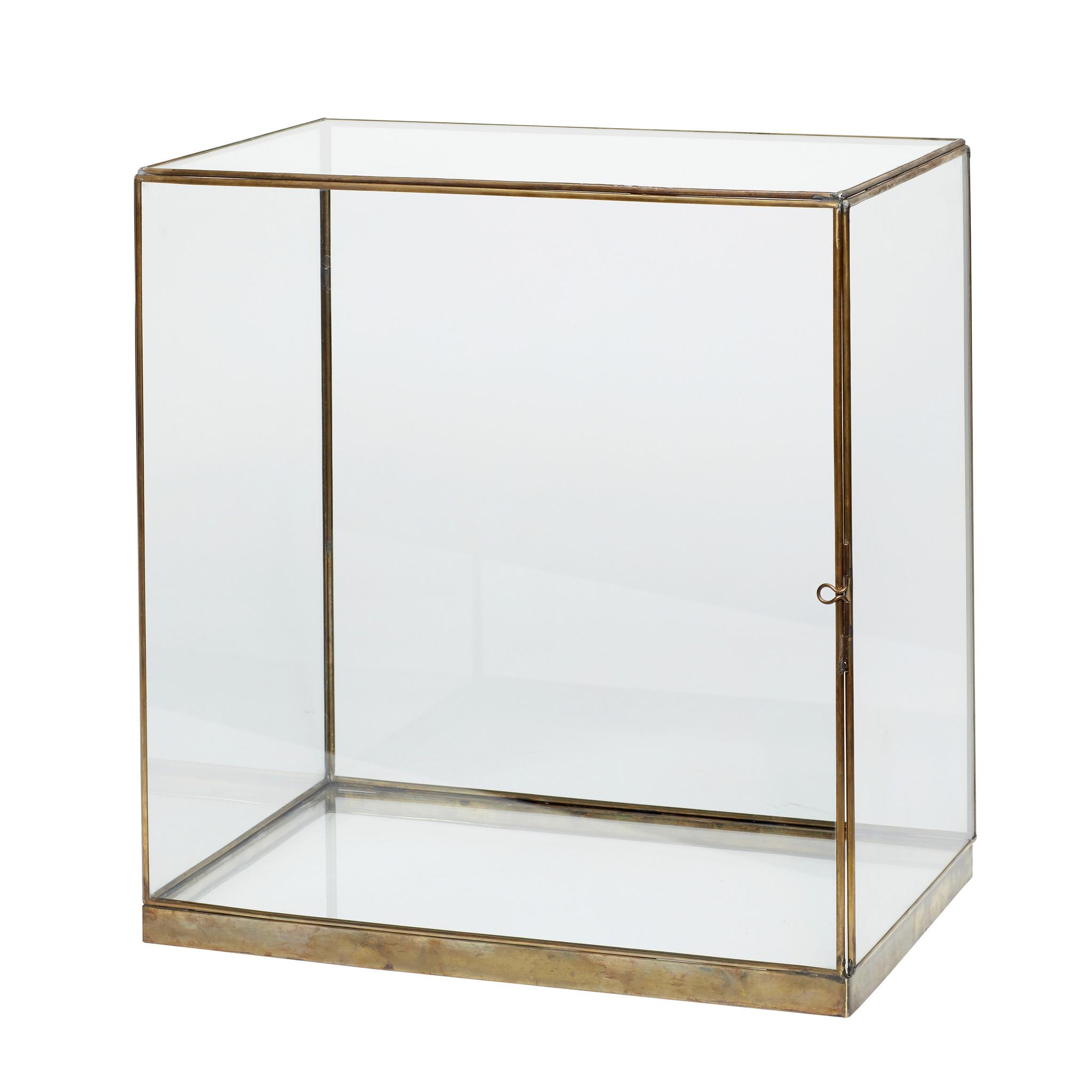 Hubsch Display, messing / glas, groot-310204-5712772065464