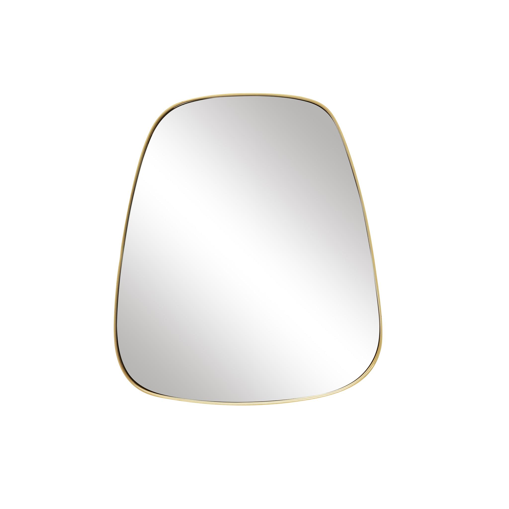 Hubsch Wandspiegel met messing frame, vierkant, trapezium-340502-5712772052075