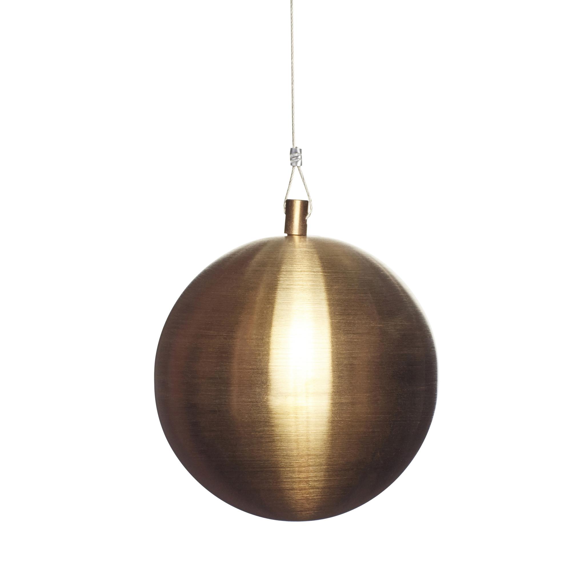 Hubsch Kerstbal, metaal, goud-350910-5712772070765