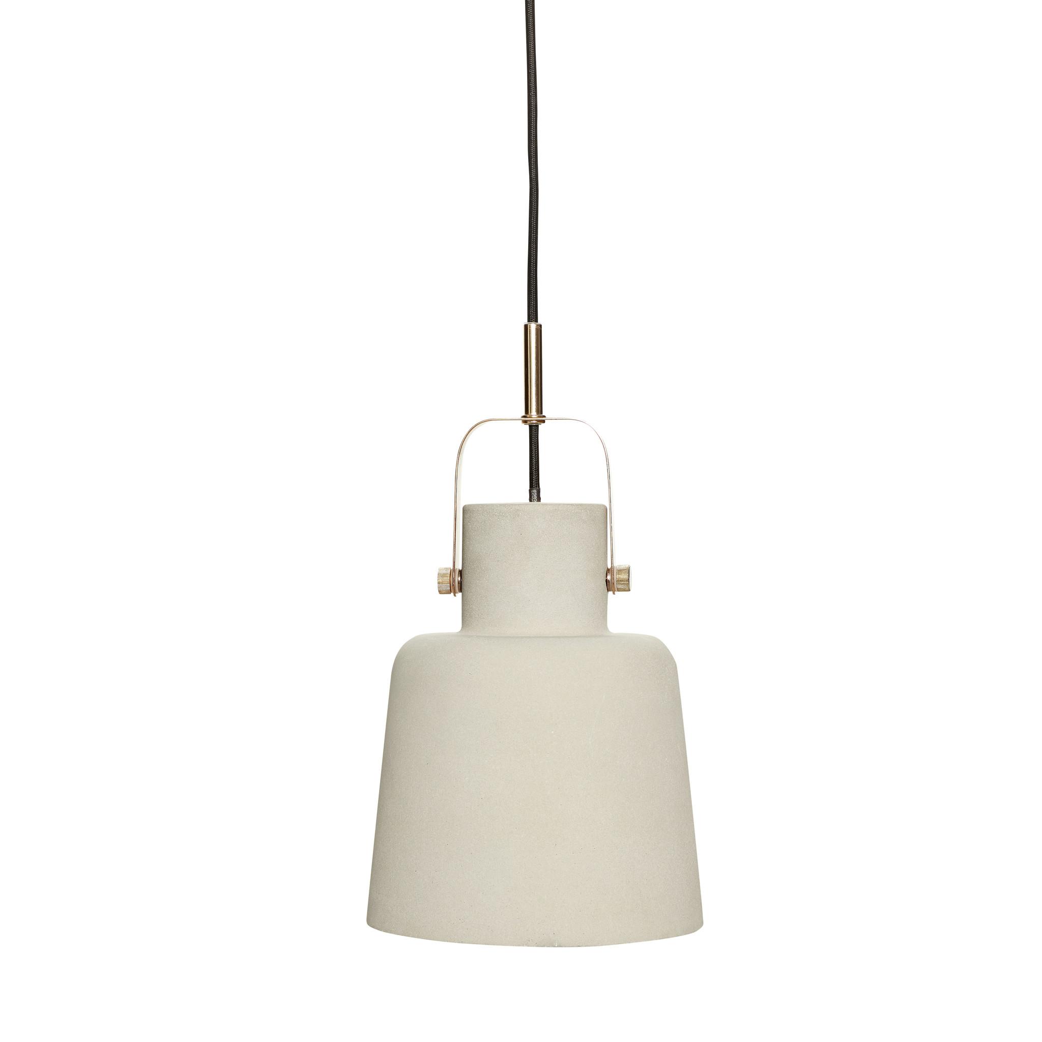 Hubsch Lamp, beton / messing-370219-5712772052860