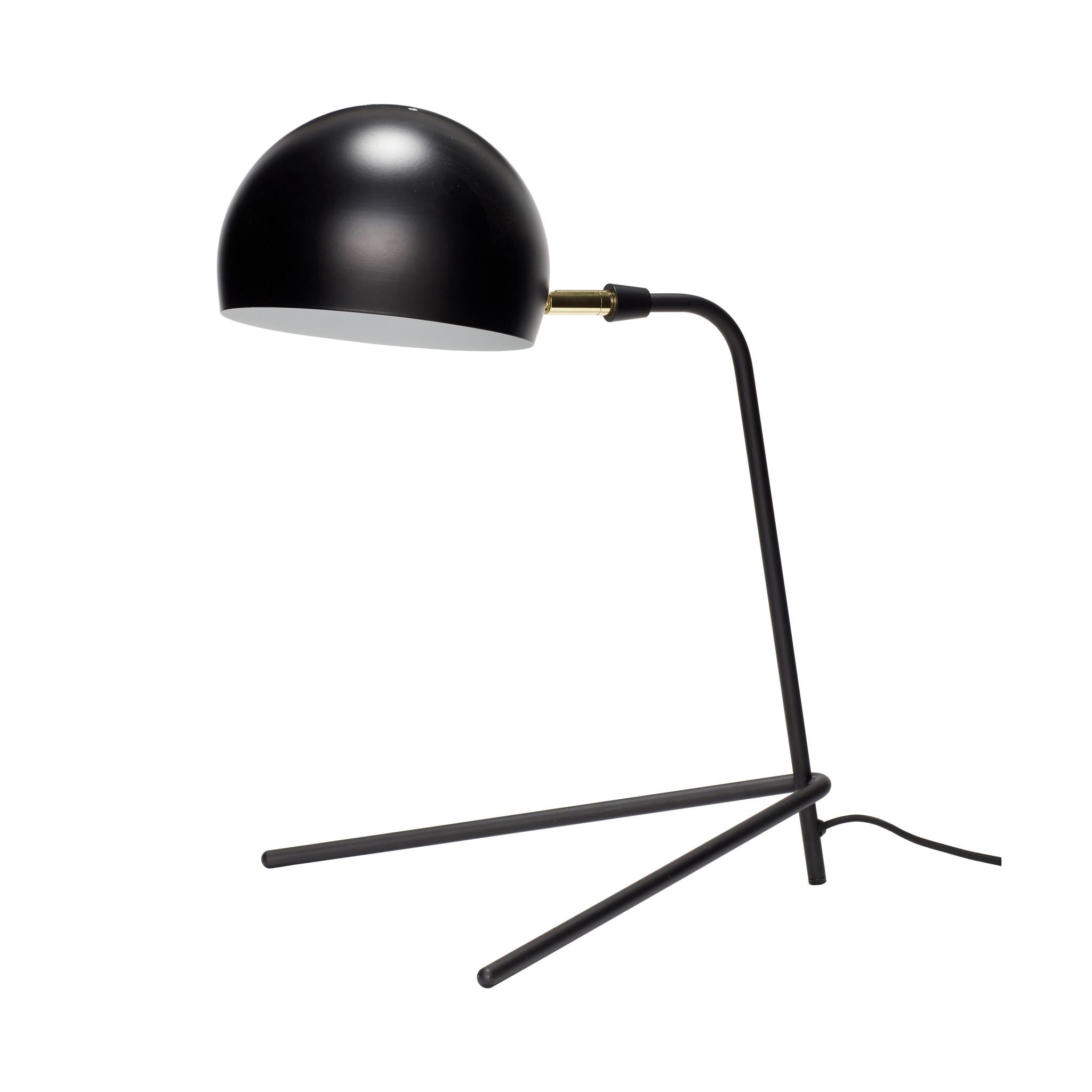 Hubsch Tafellamp, metaal, zwart-370410-5712772058695