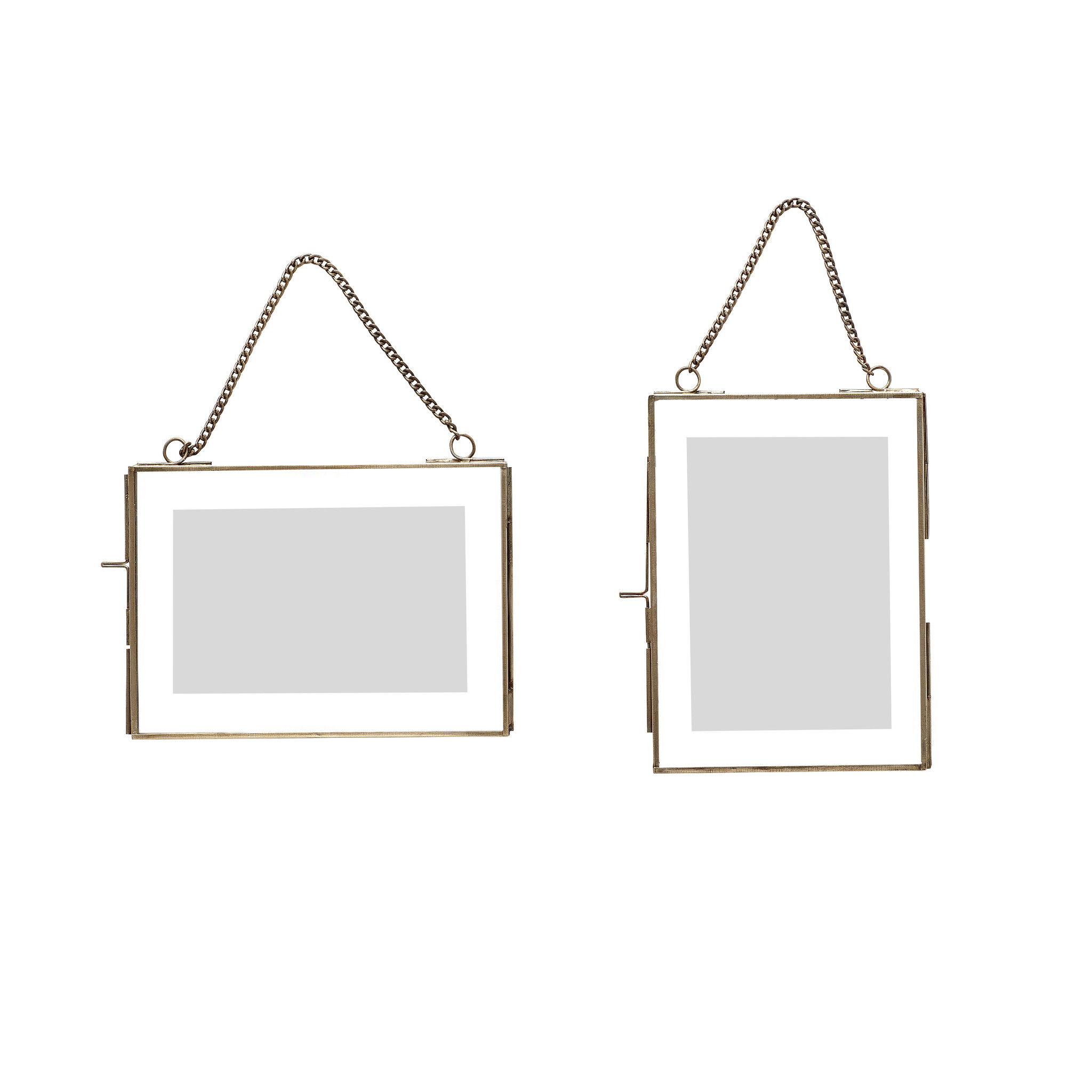 Hubsch Glaslijst, antiek, set van 2, zonder foto-407016-5712772033401