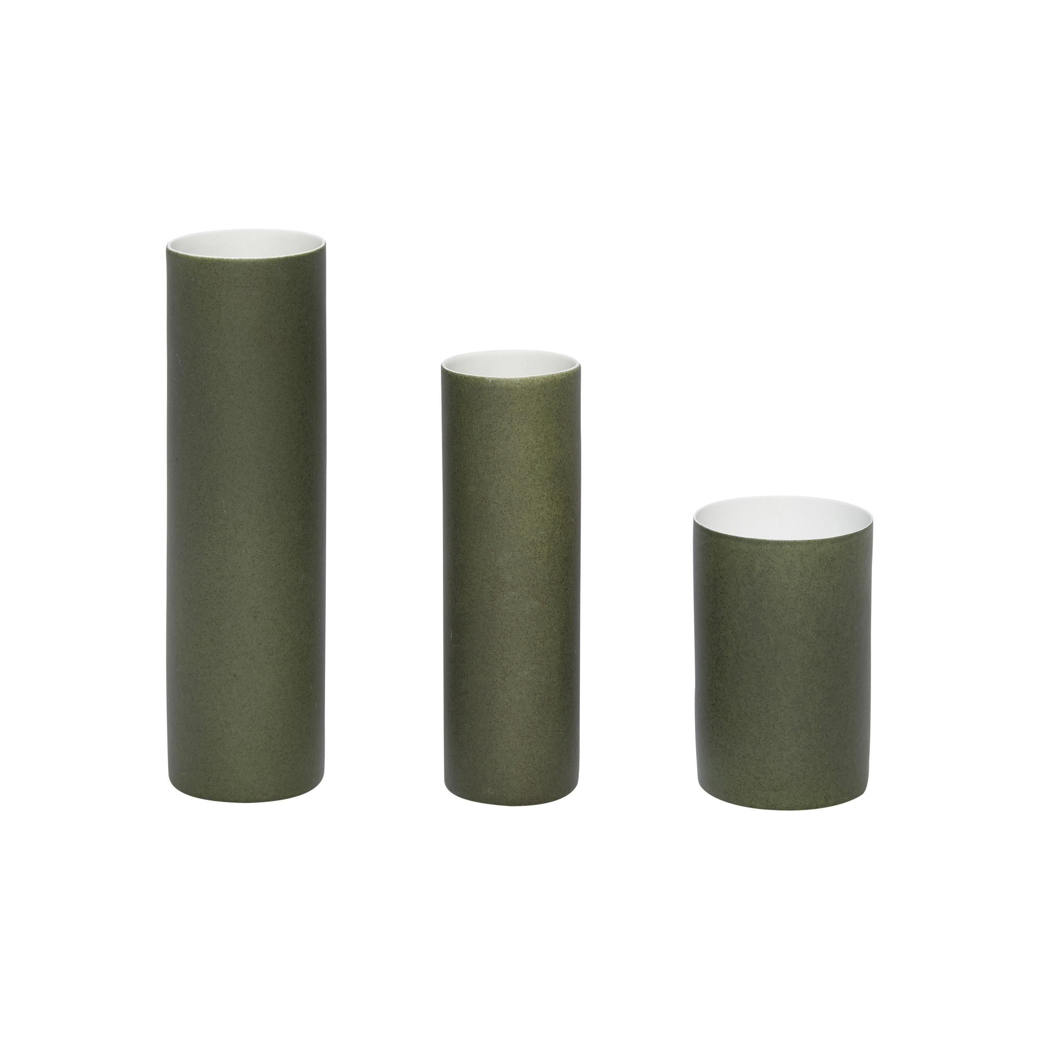 Hubsch Vaas, porselein, groen, set van 3-420304-5712772054734