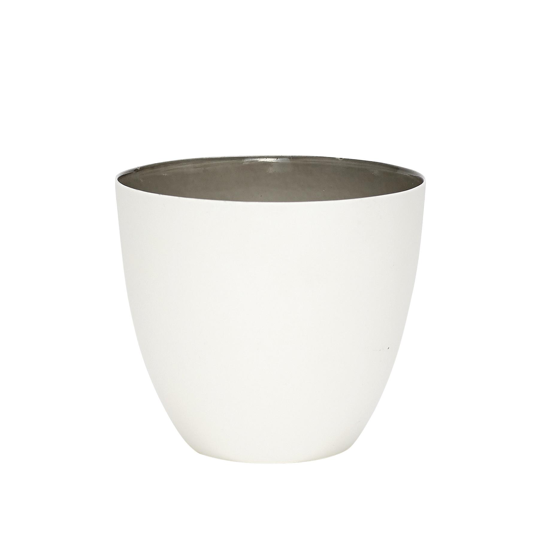 Hubsch Theelichtglas, porselein, grijs kleurverloop / wit