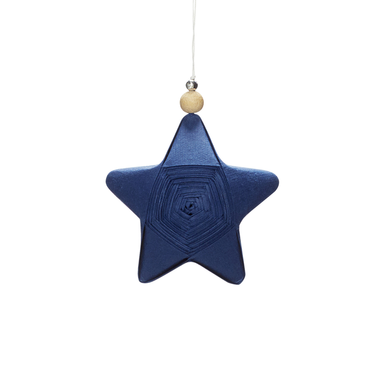 Hubsch Kerstster, handgevouwen, blauw, papier