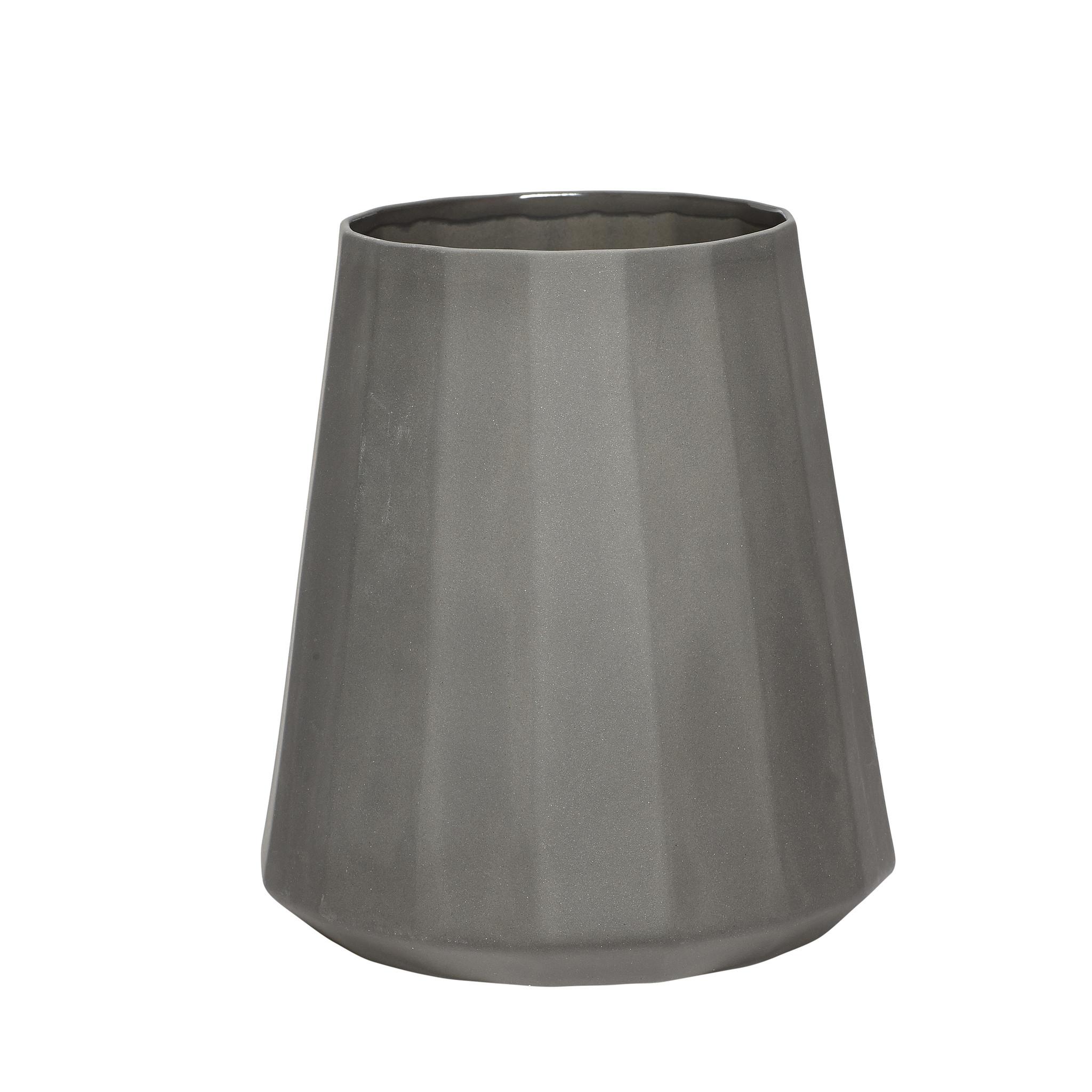 Hubsch Vaas, porselein, grijs-459006-5712772044919