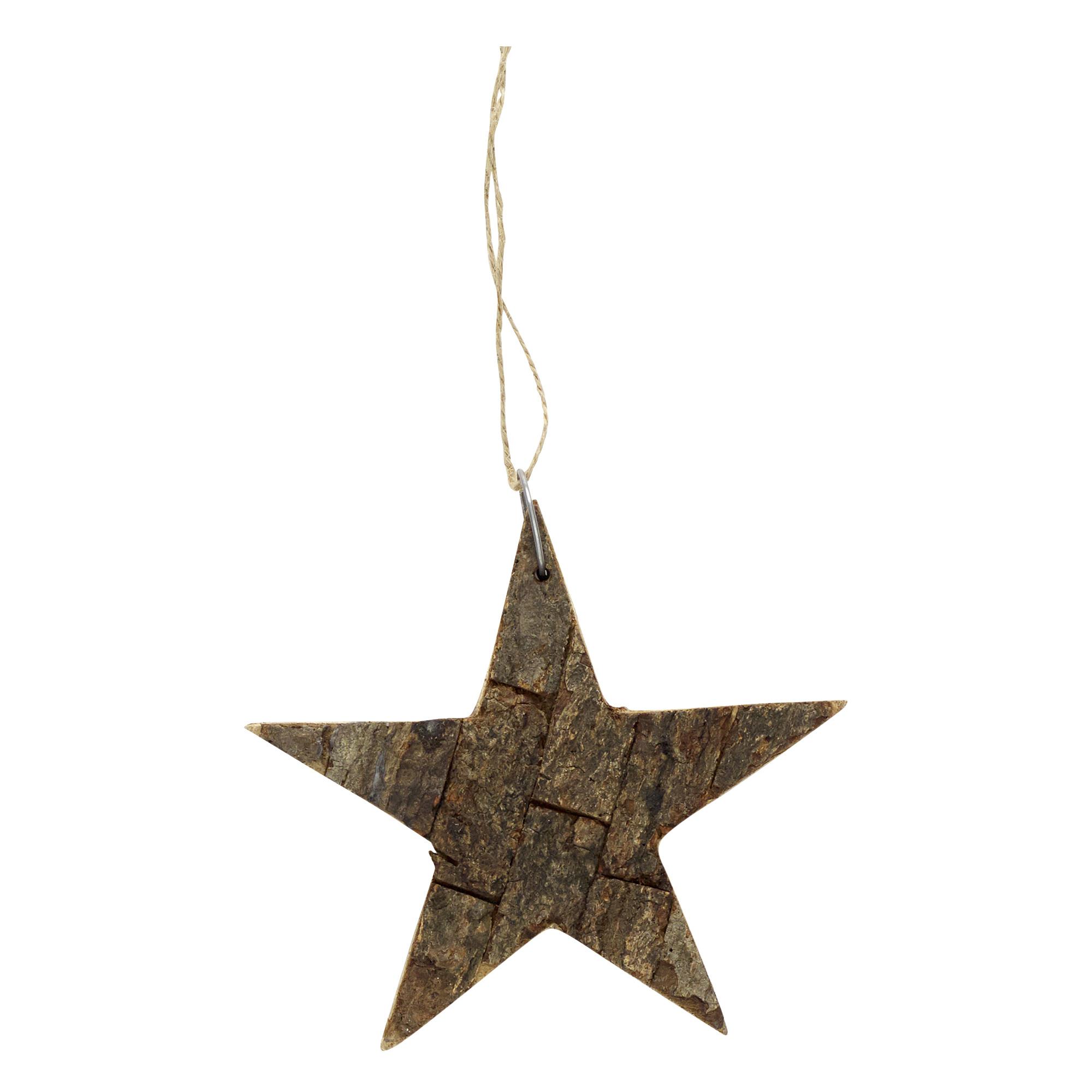 Hubsch Star w / string, hout, natuur, klein-468025-5712772039151