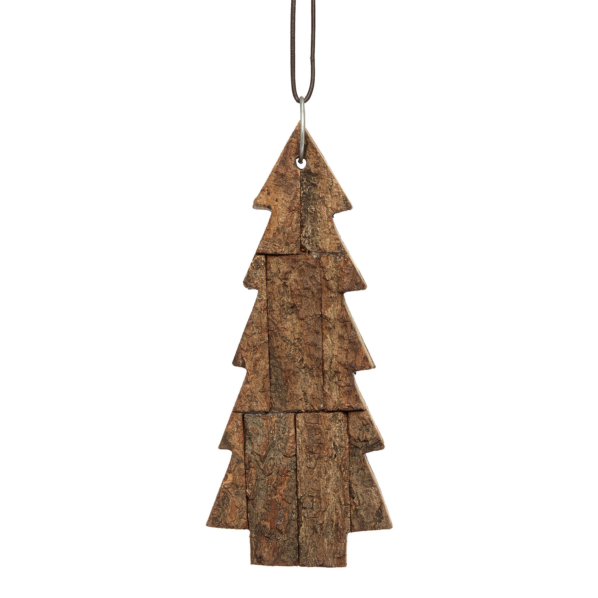 Hubsch Kerstboom met string, hout, natuur, klein