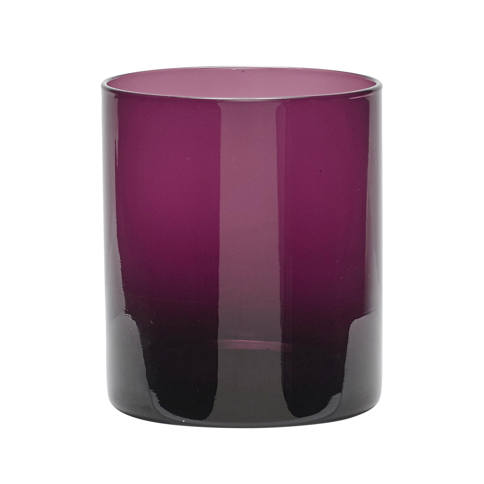 Hubsch Theelichtglas, paars