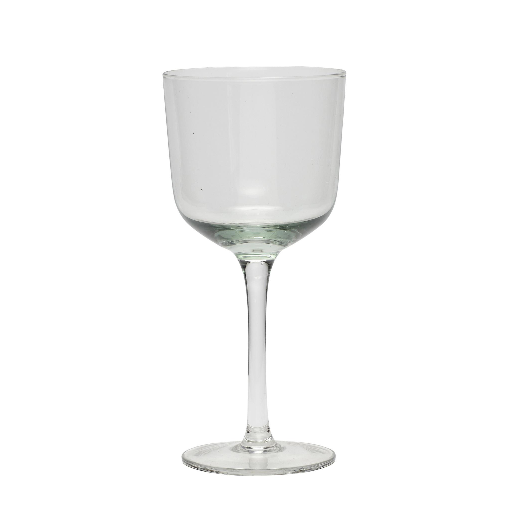 Hubsch Wit wijnglas, helder