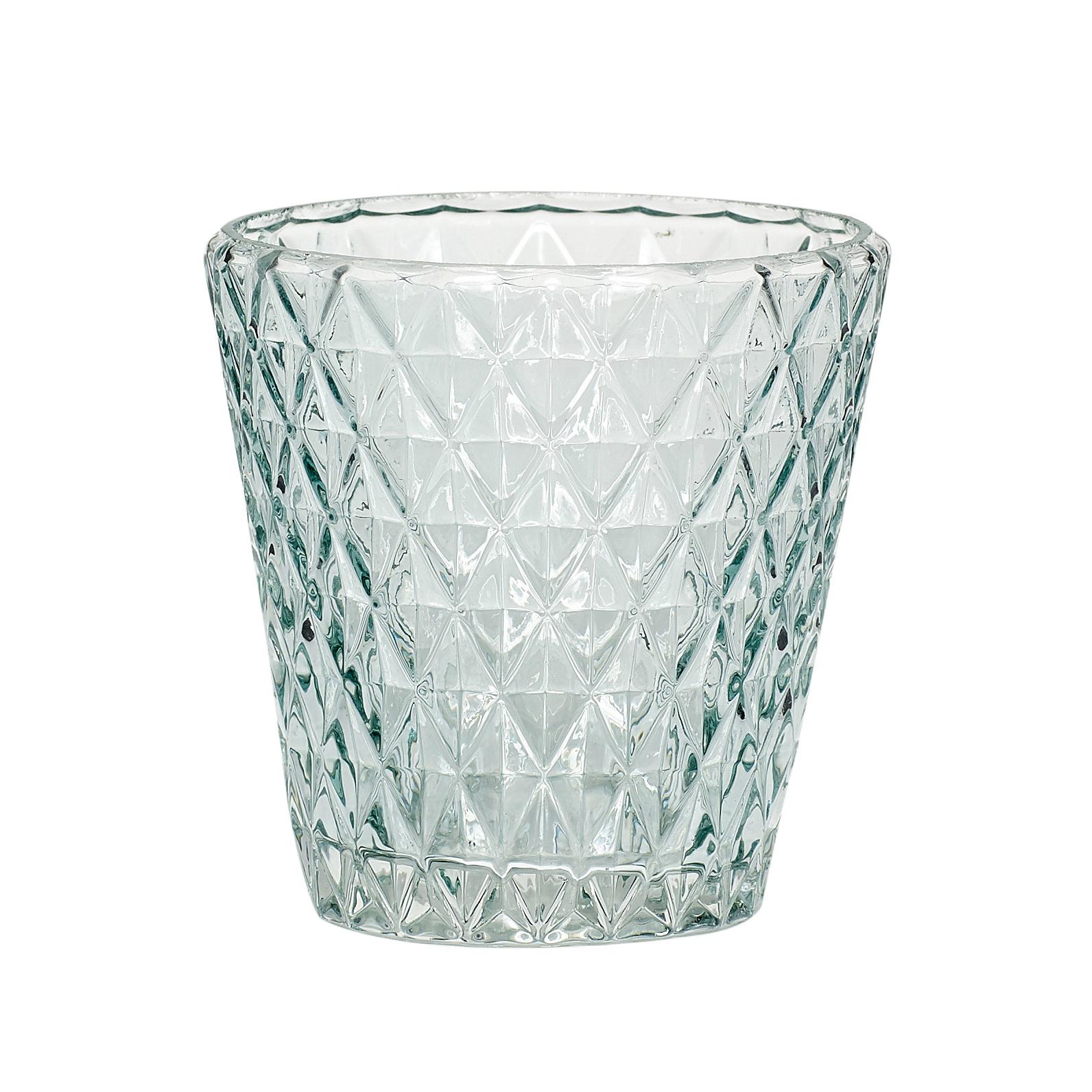 Hubsch Theelichtglas, groen