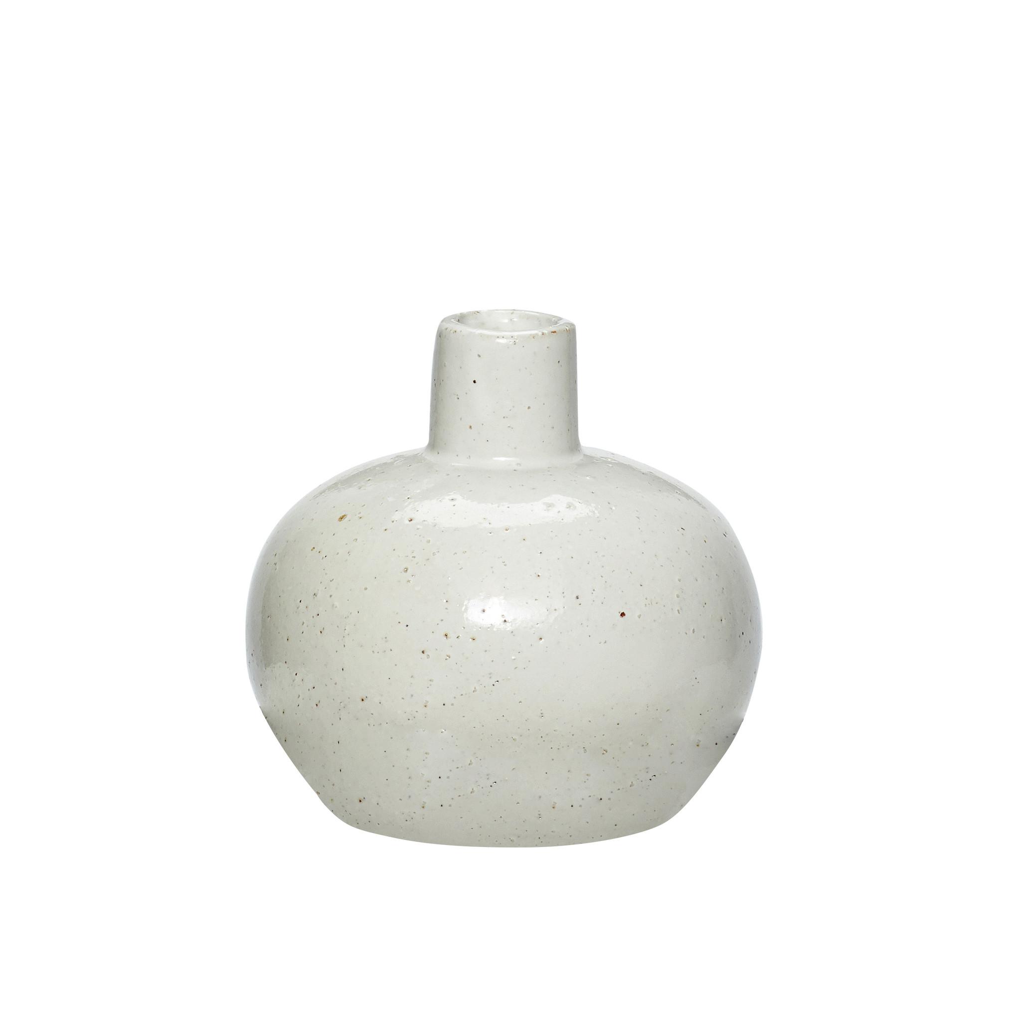Hubsch Vaas, porselein, wit / natuur-640215-5712772046845