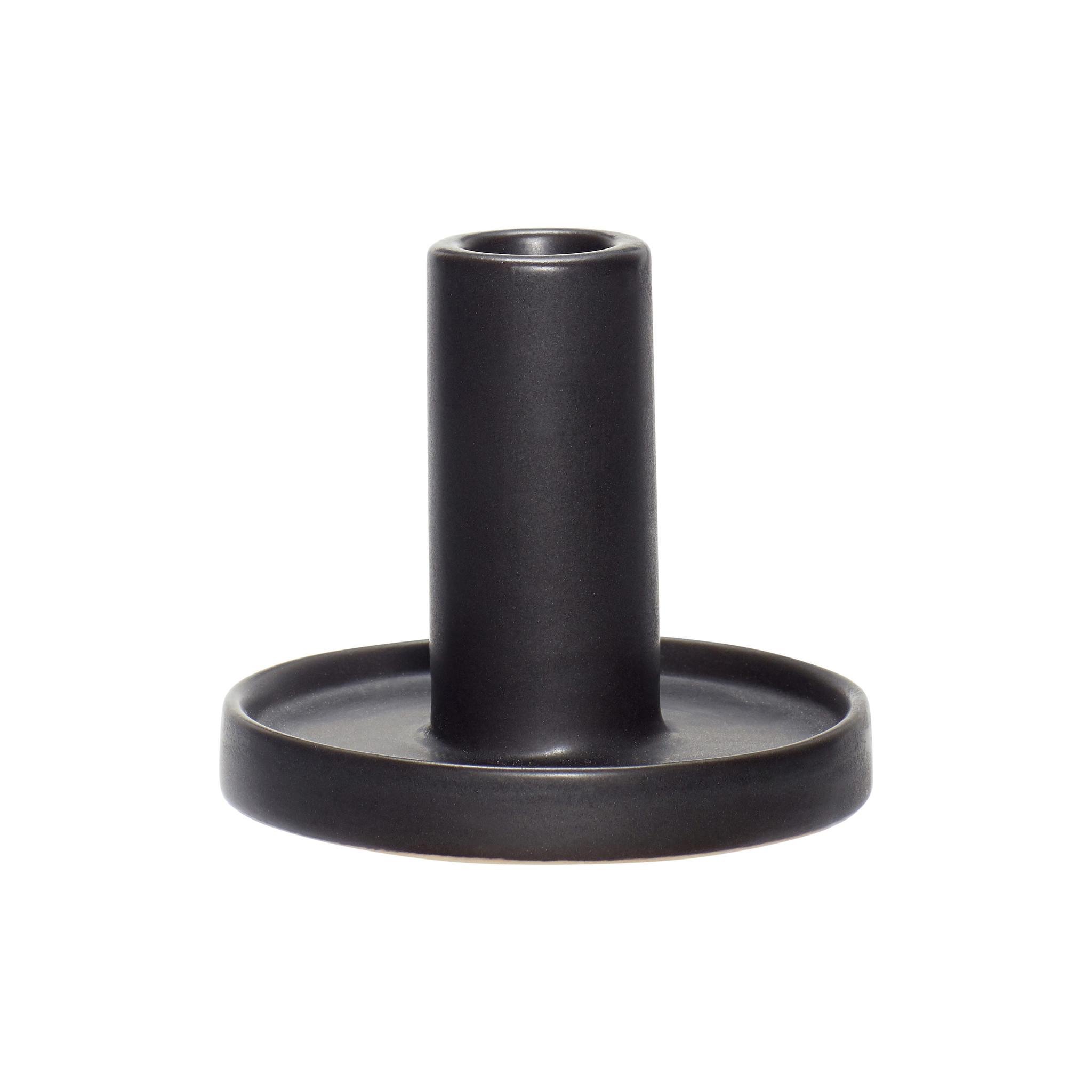 Hubsch Kandelaar, porselein, zwart