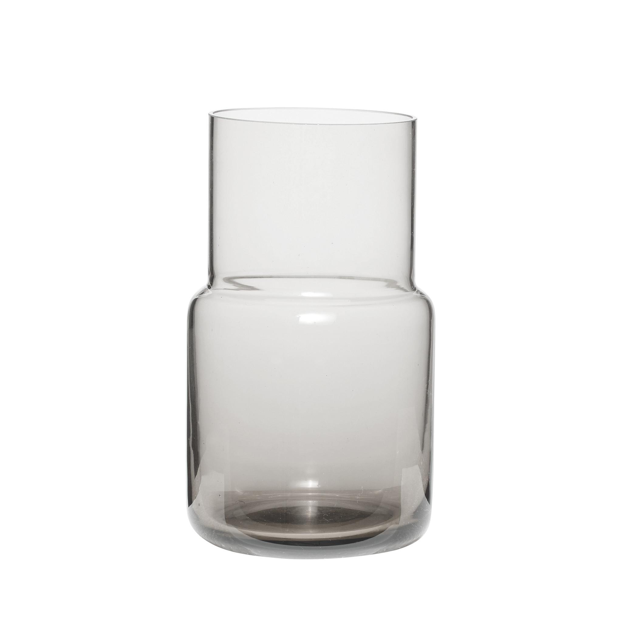 Hubsch Vaas, glas, grijs-660202-5712772042786