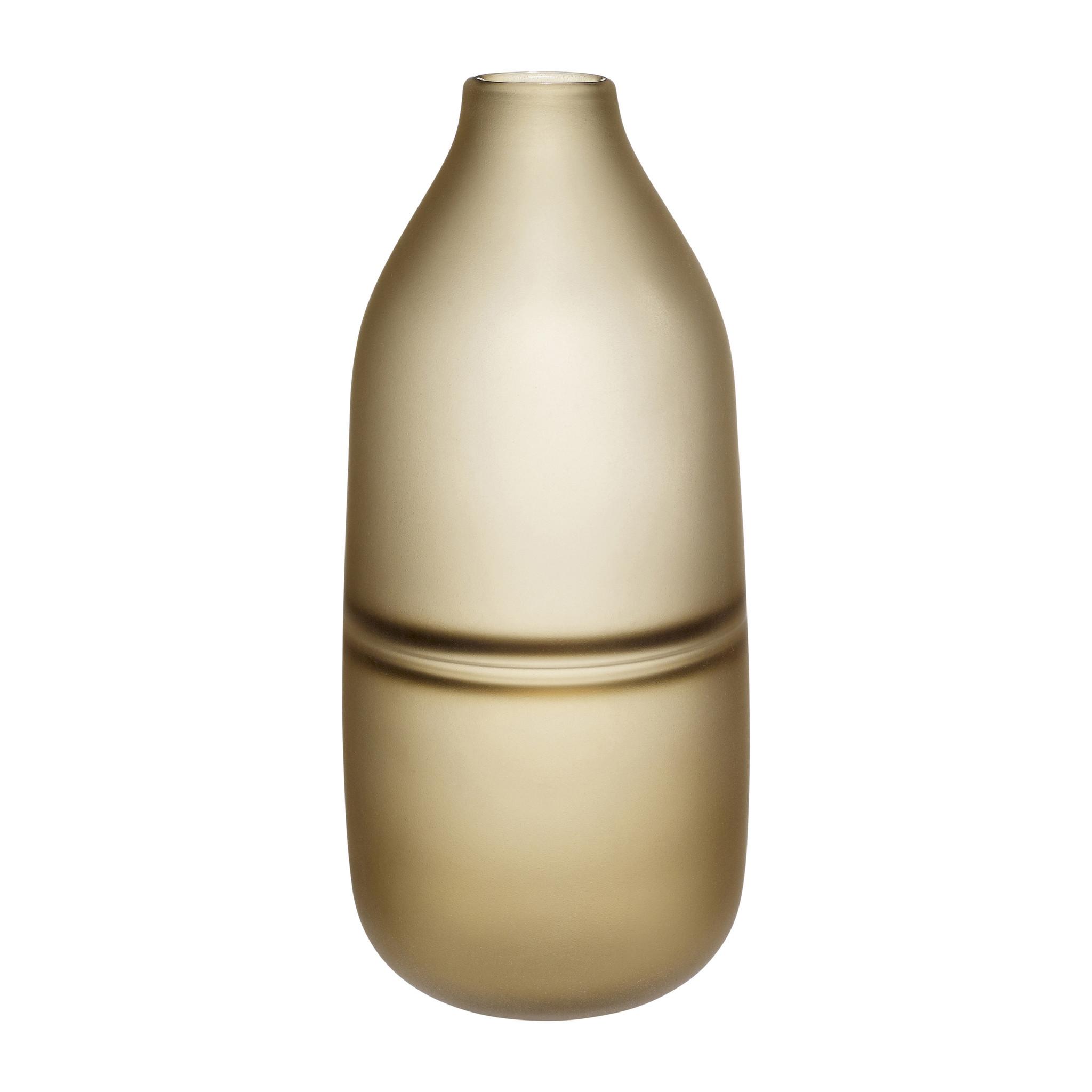 Hubsch Vaas, glas, mat bruin-660801-5712772056479