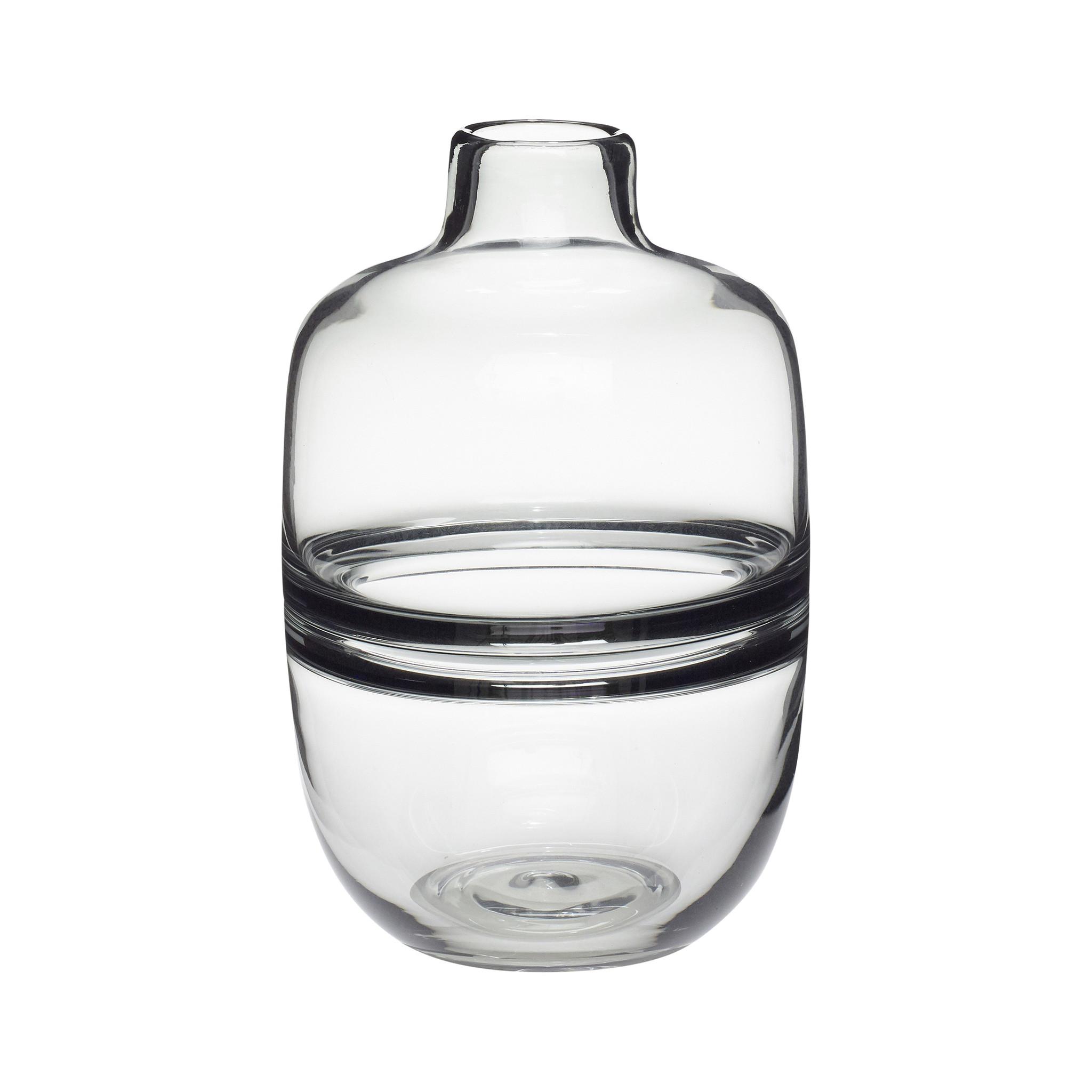 Hubsch Vaas, glas, gerookt-660802-5712772056486