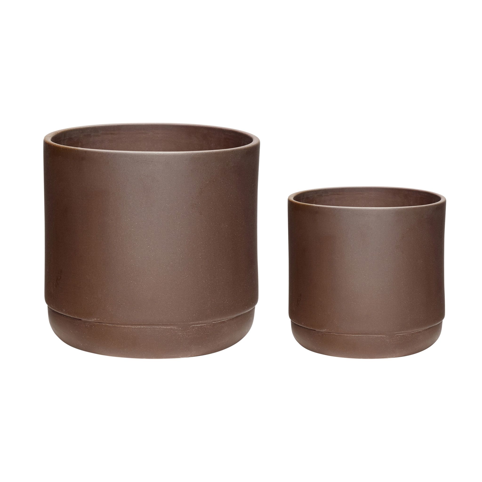 Hubsch Pot, keramiek, bordeaux, set van 2-760801-5712772061398
