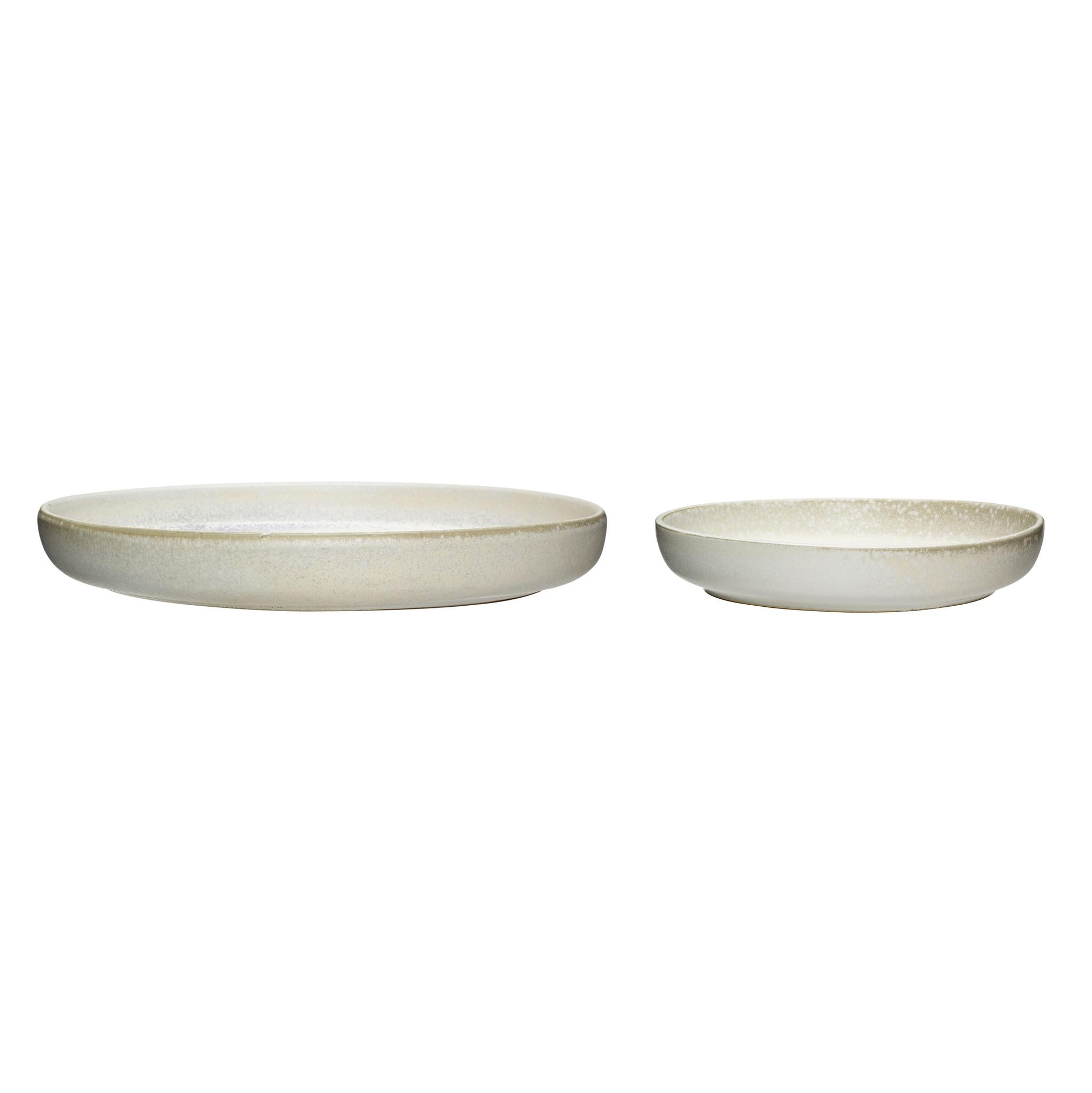 Hubsch Kom, keramiek, wit, set van 2-760805-5712772068458