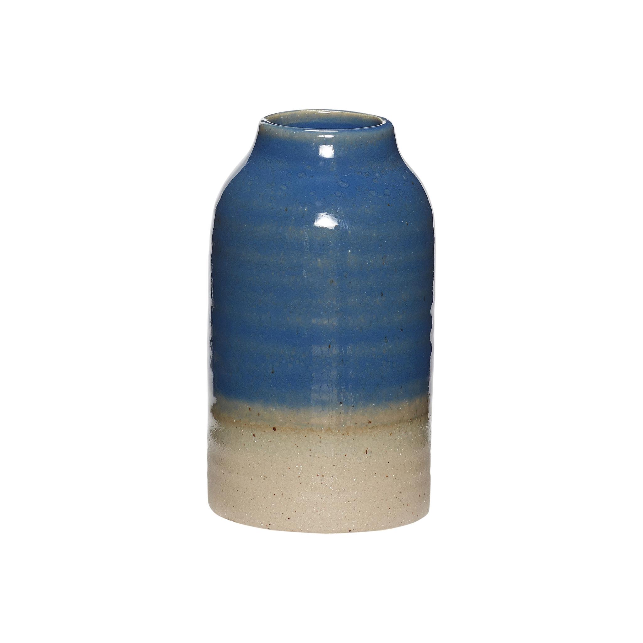 Hubsch Vaas, cremisch, blauw / zand
