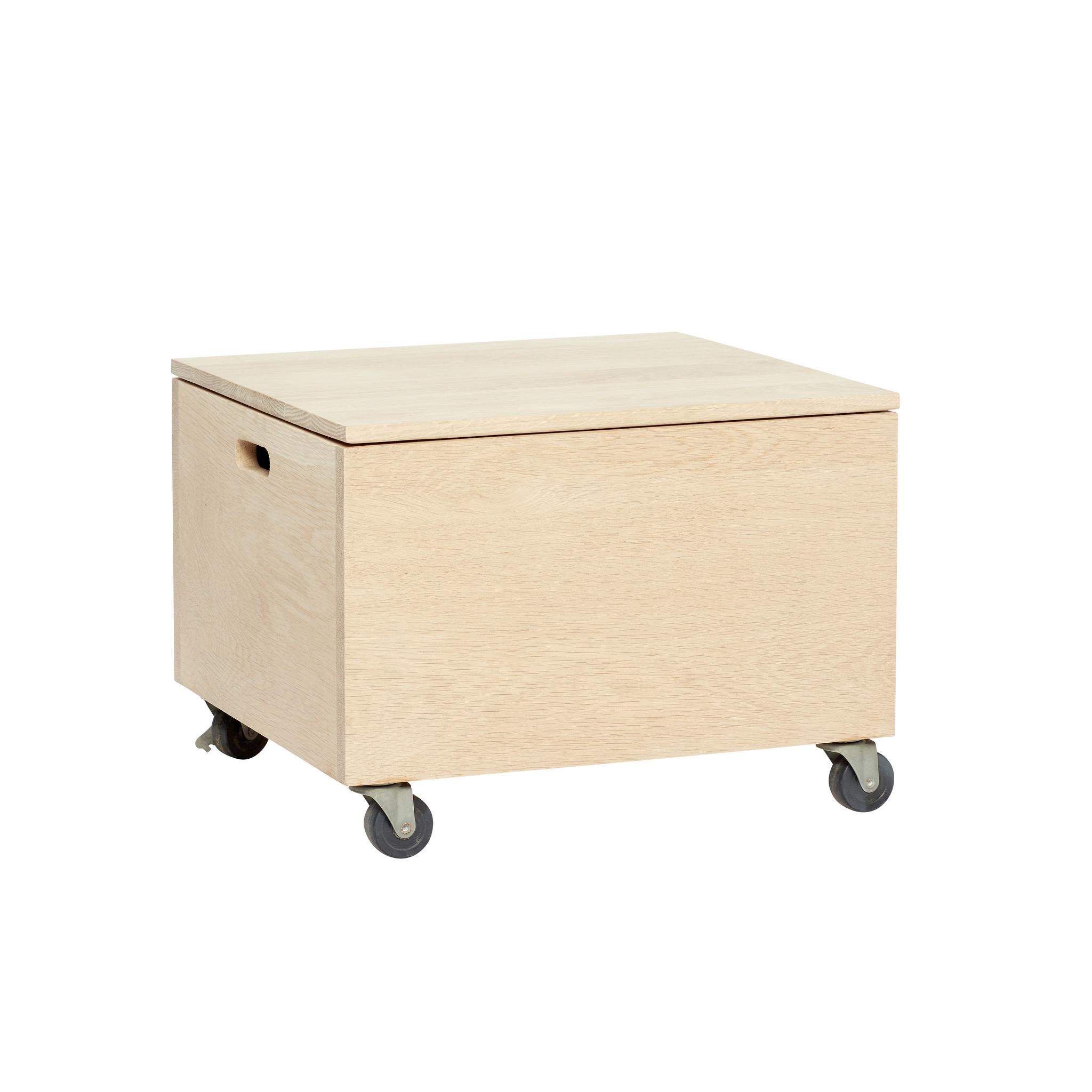 Super Hübsch houten kist met wielen, eiken - Winkel voor Thuis BY-95