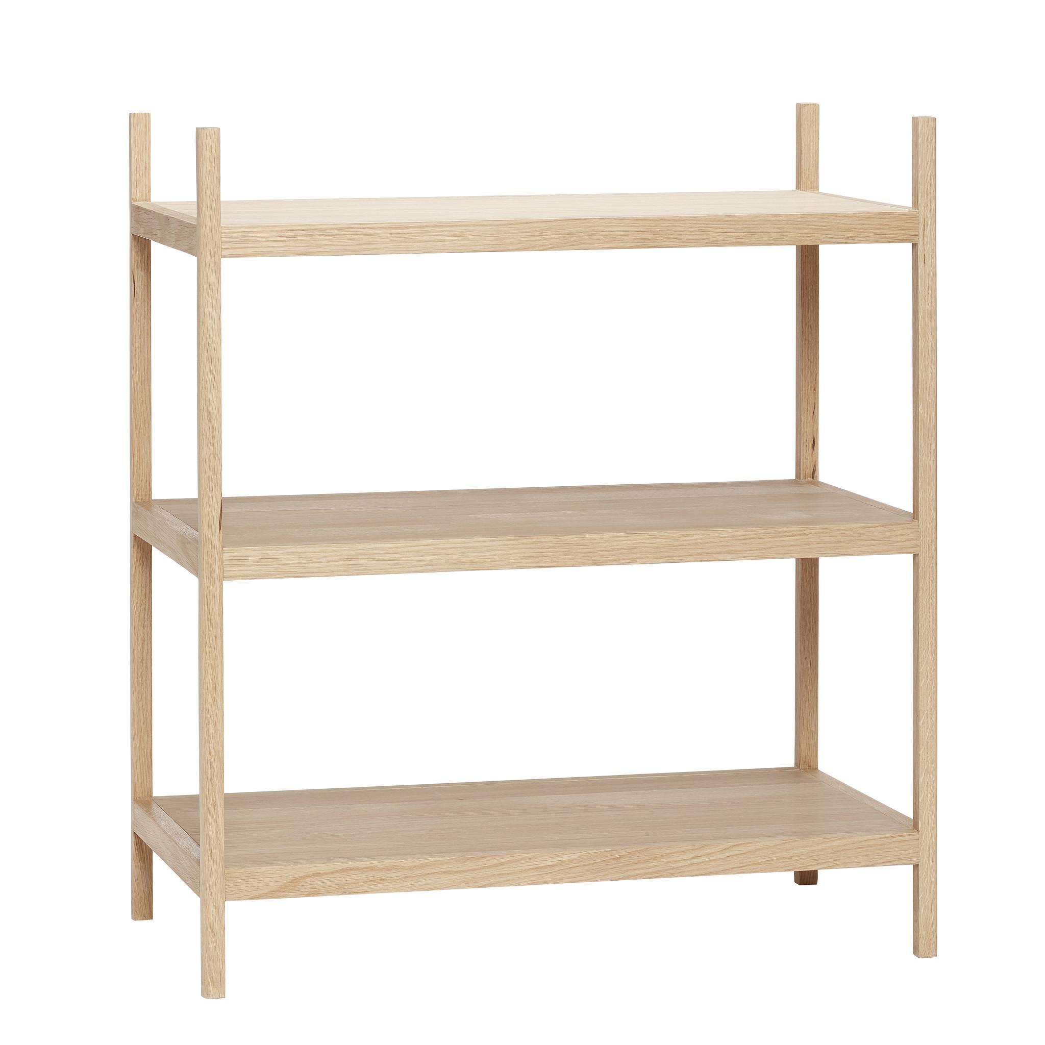 Hubsch Plank met 3 planken, eiken-880509F-5712772062098