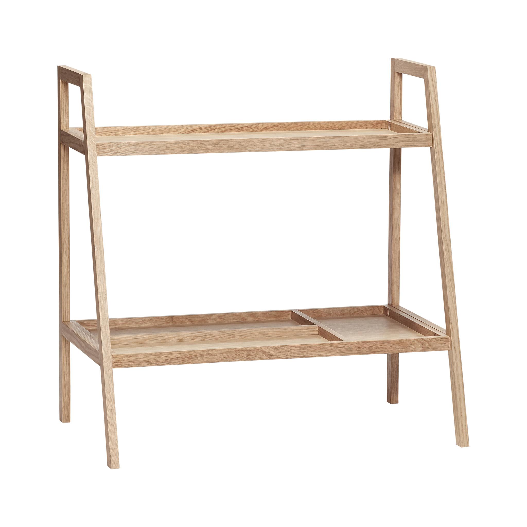 Hubsch Open kast met 2 planken, eiken, natuur-880614-5712772064979