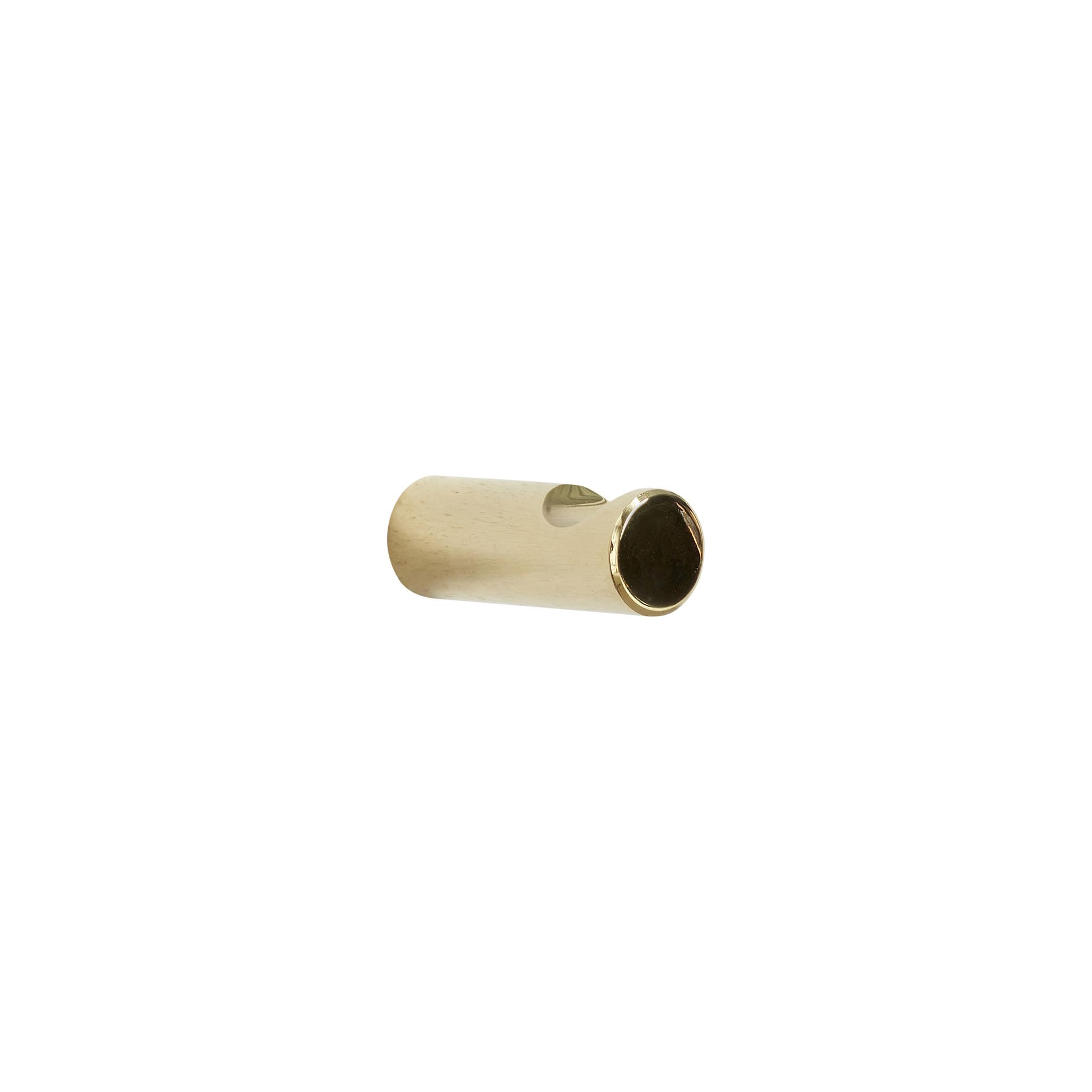 Hubsch Kapstokhaak goud, set van 2-880699-5712772065112