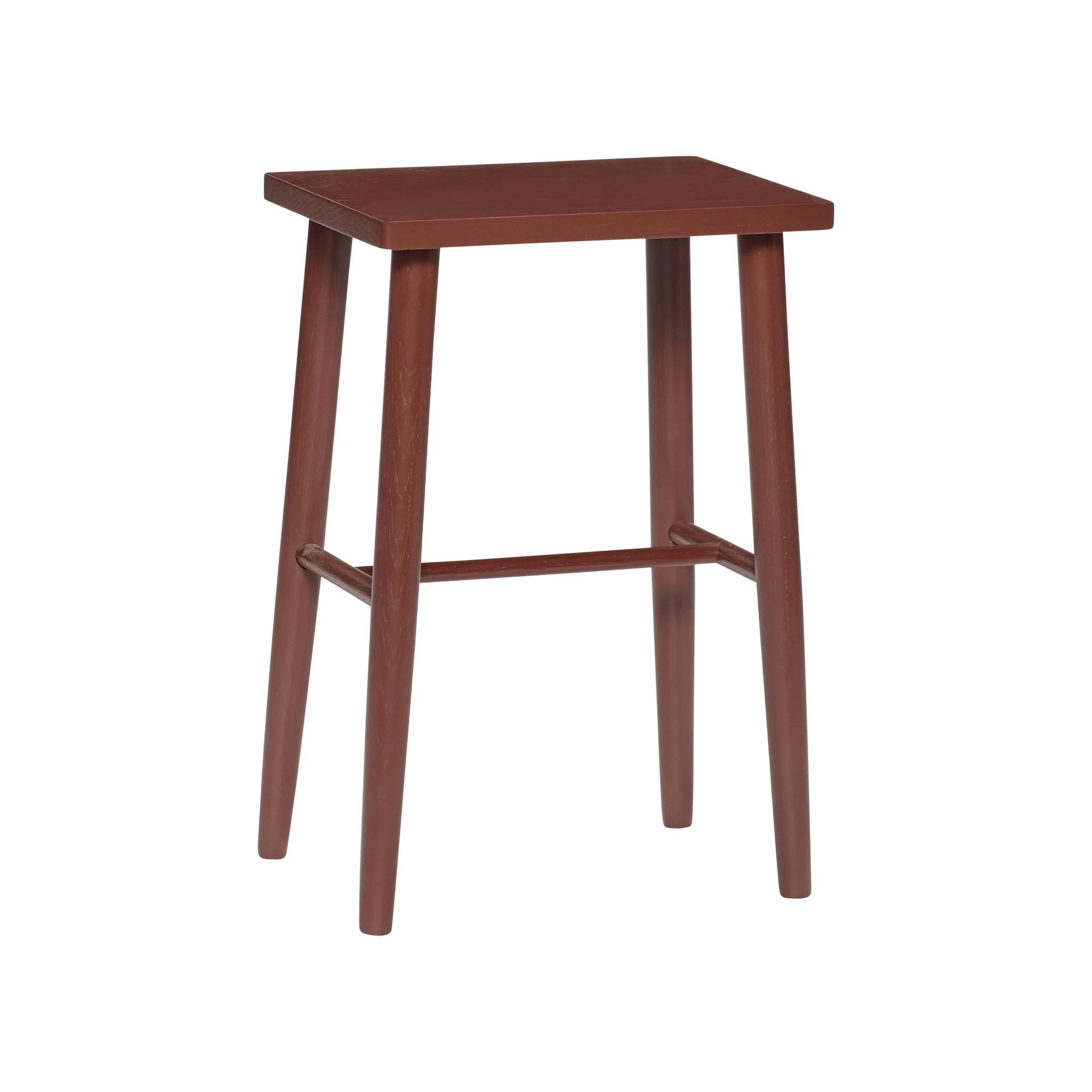 Hubsch Barkruk, hout, rood-880720-5712772066560