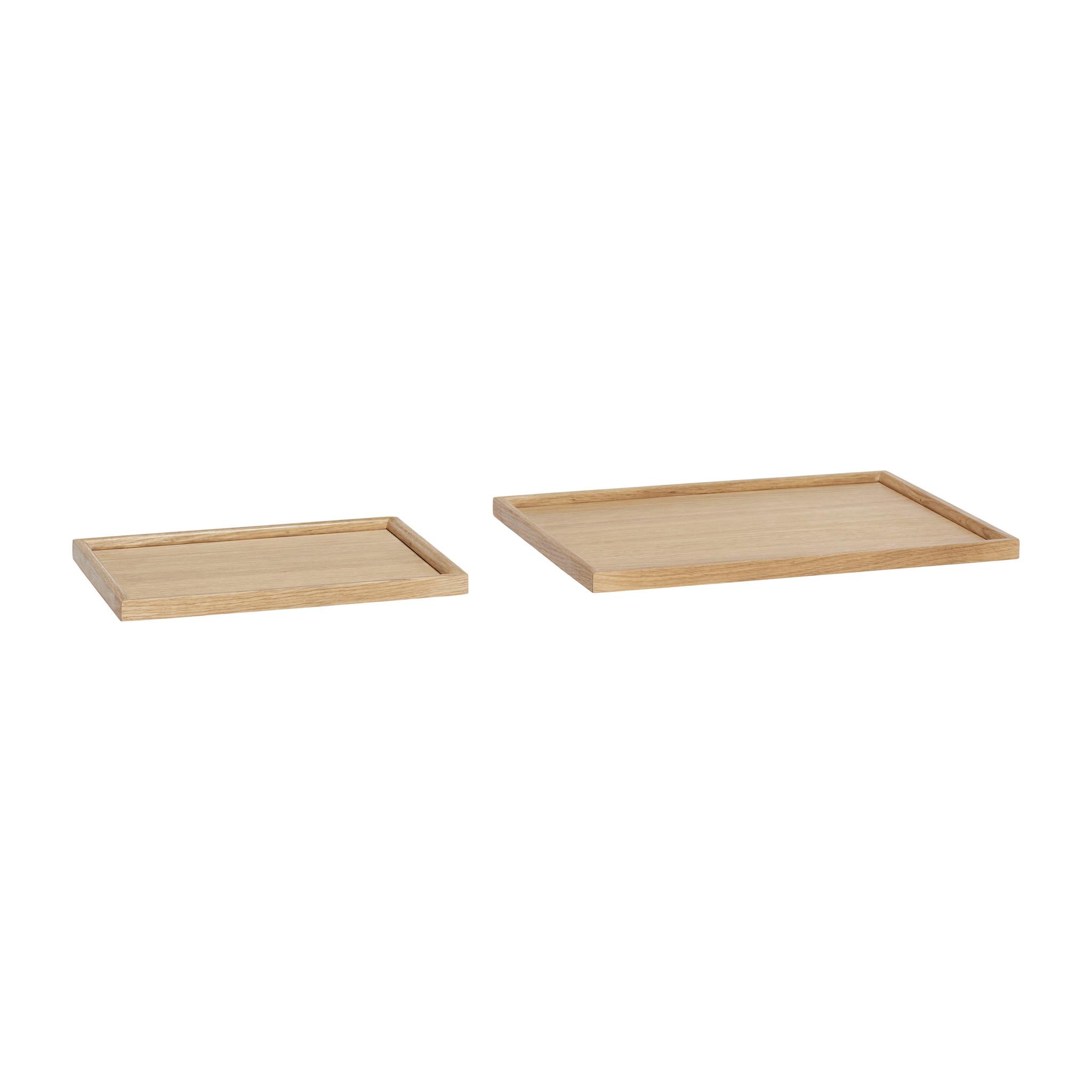 Hubsch Dienblad, hout, set van 2-880730-5712772066669