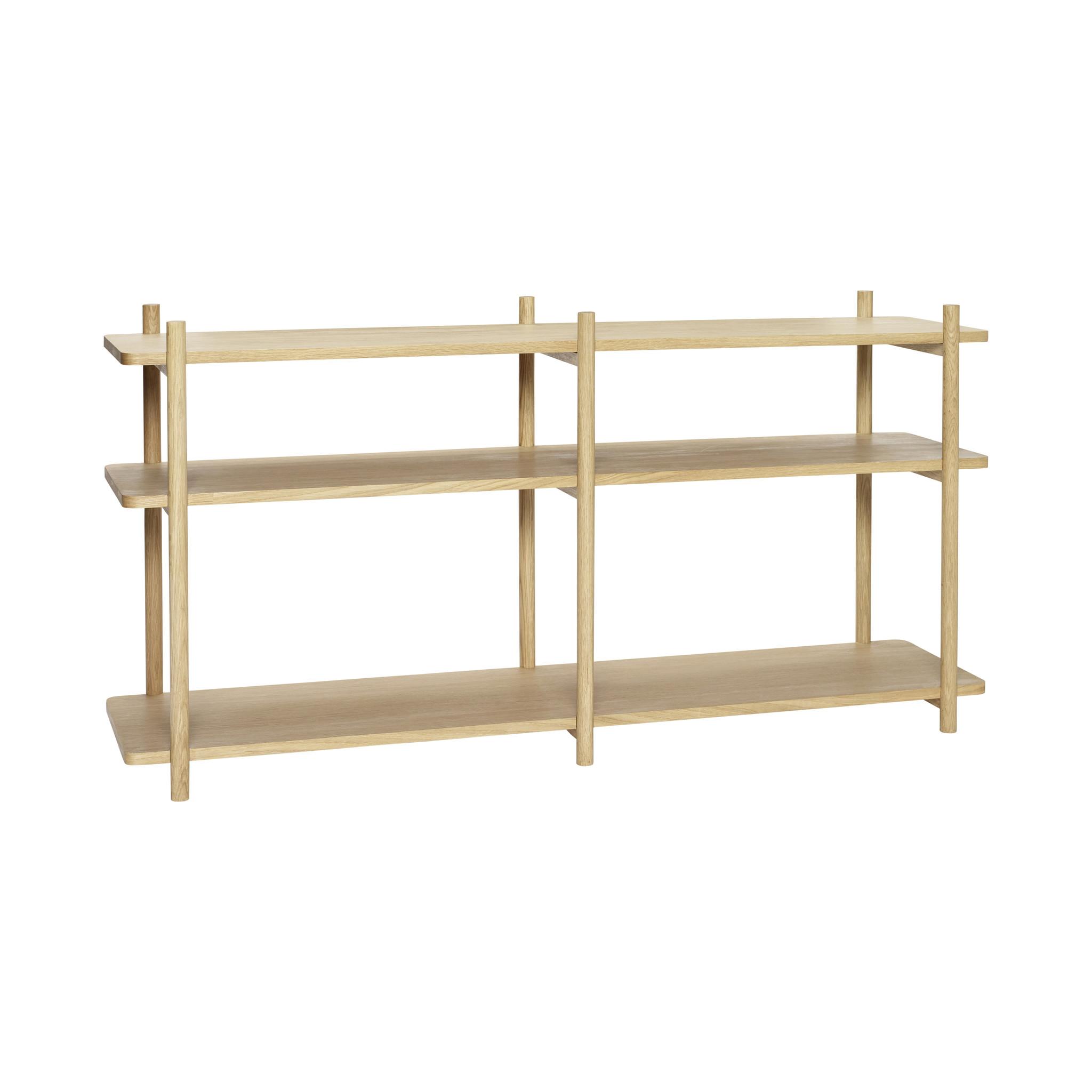 Hubsch Open kast met 3 planken, eiken, natuur-880810-5712772069387