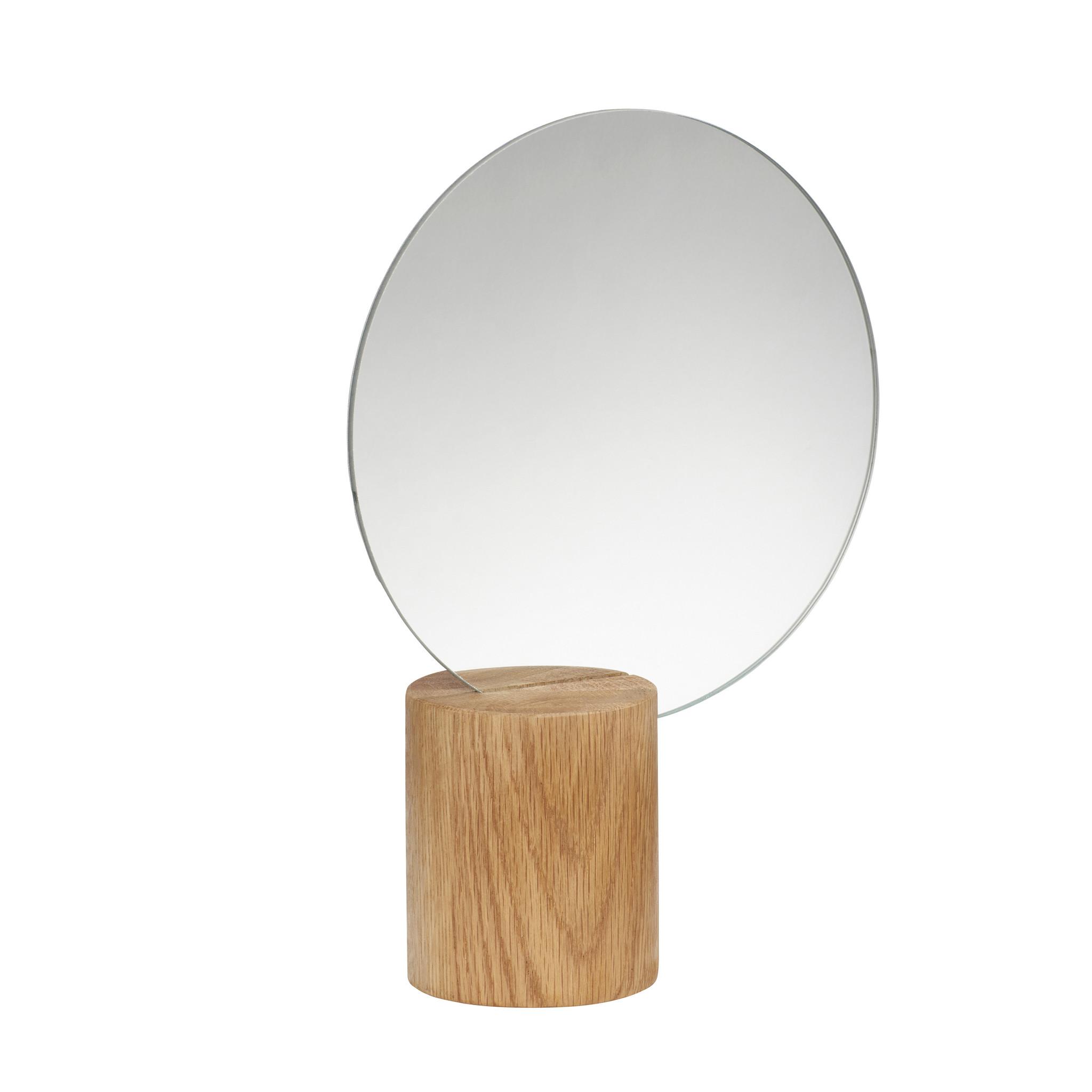 Hubsch Tafelspiegel, hout, natuur, rond-880907-5712772070802