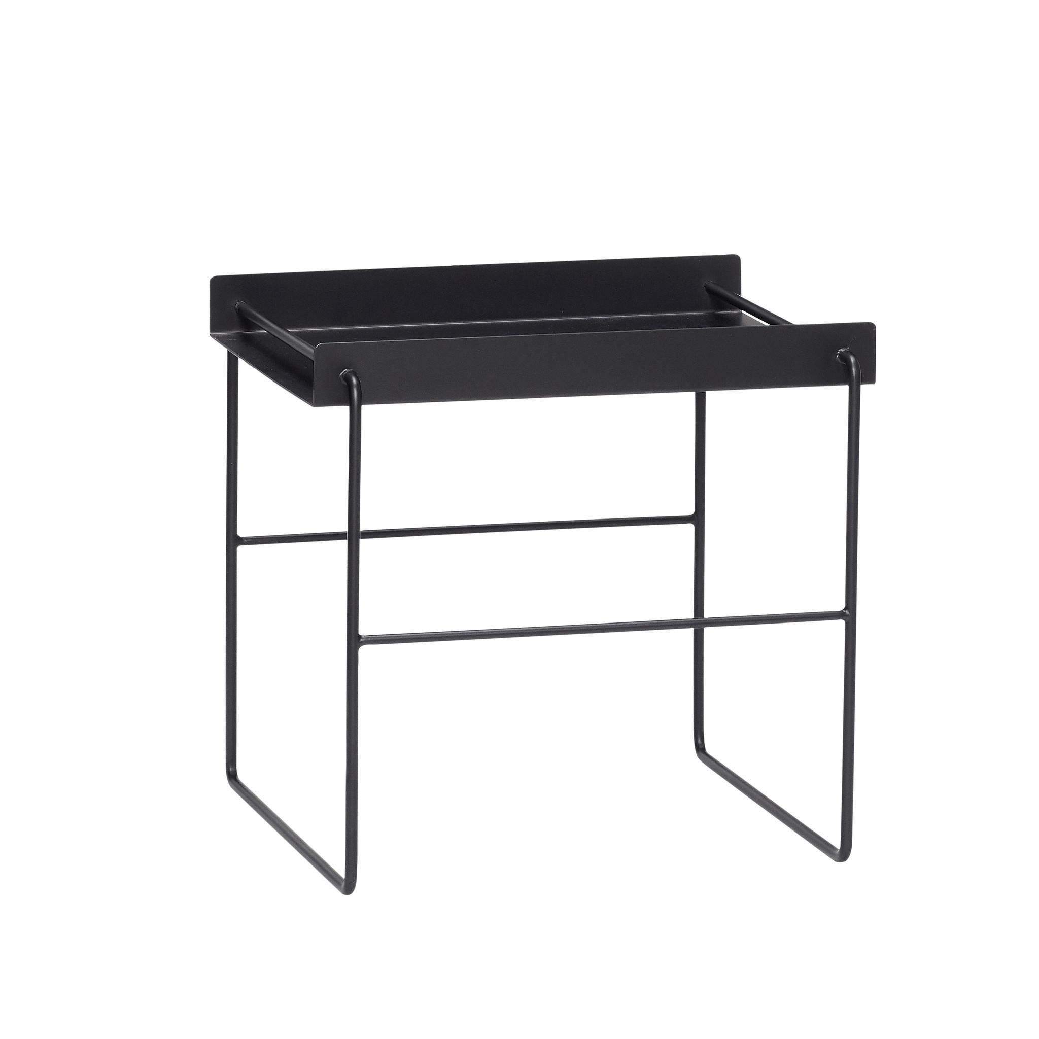Hubsch Tafel, vierkant, zwart, metaal