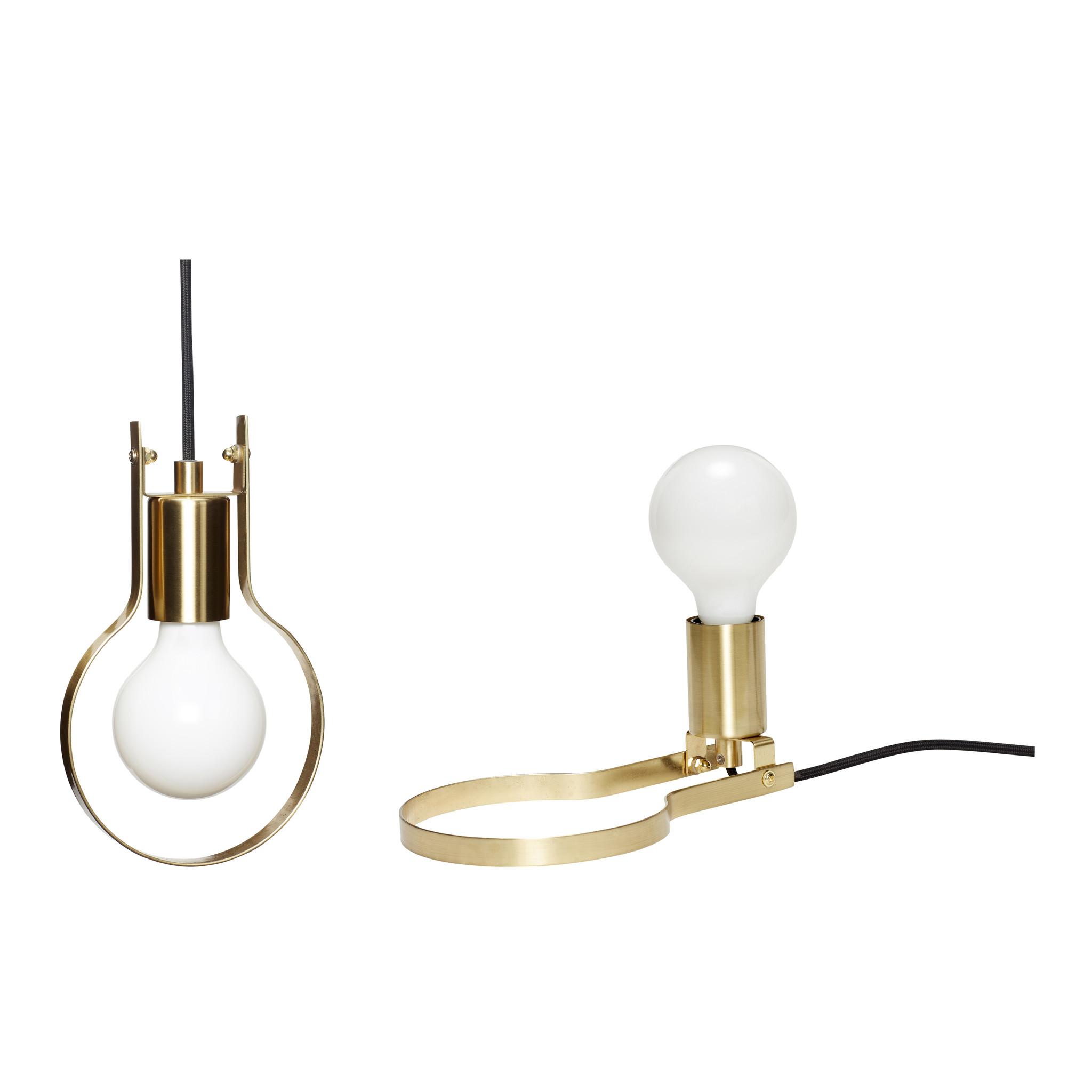 Hubsch Lamp / tafellamp, metaal, messing