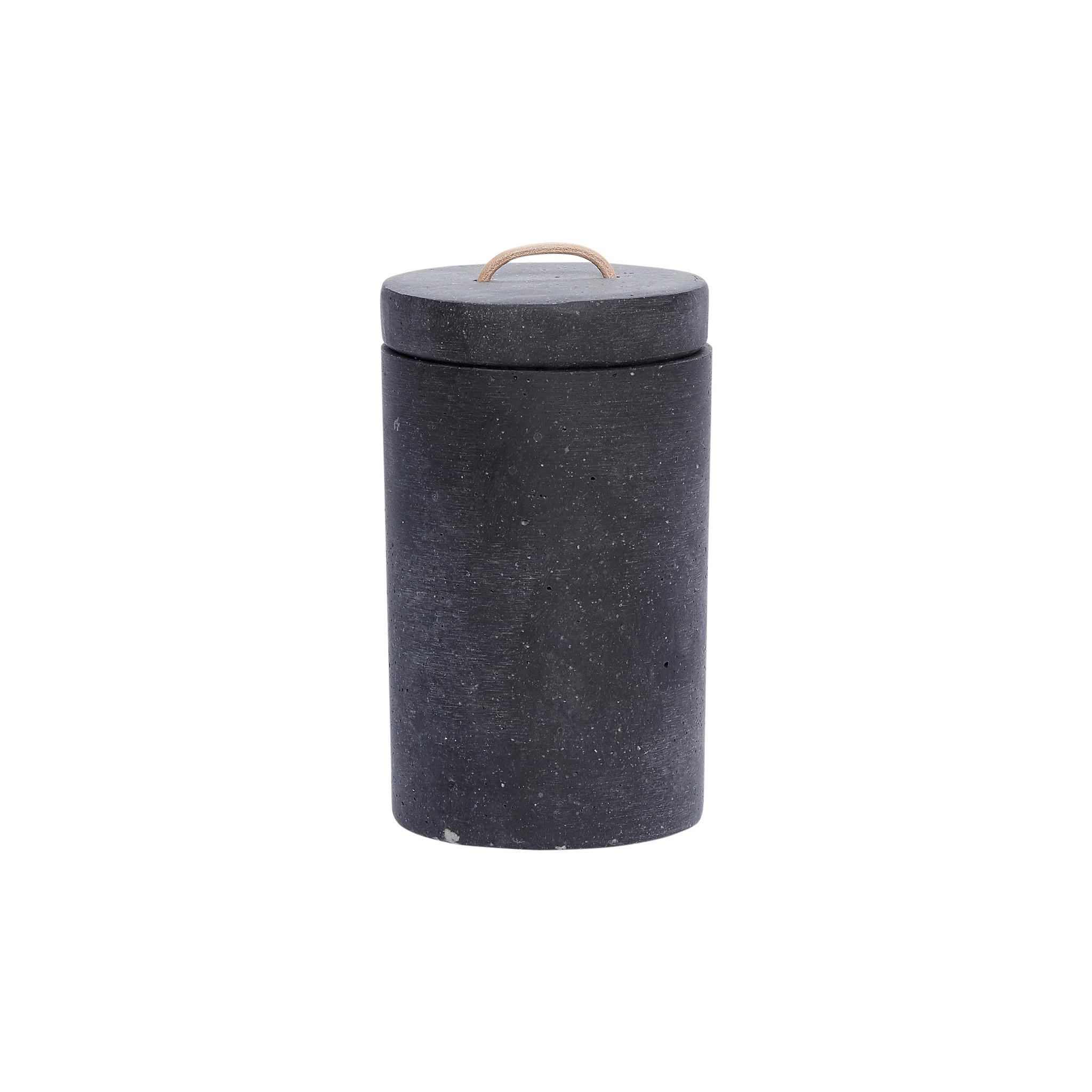Hubsch Pot met deksel, zwart, klein