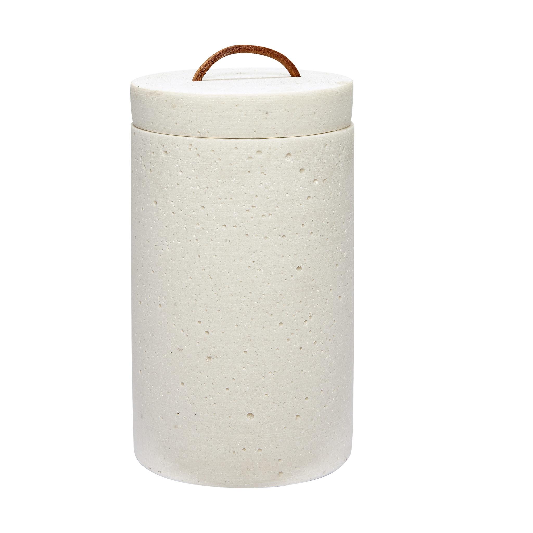 Hubsch Pot met deksel, wit