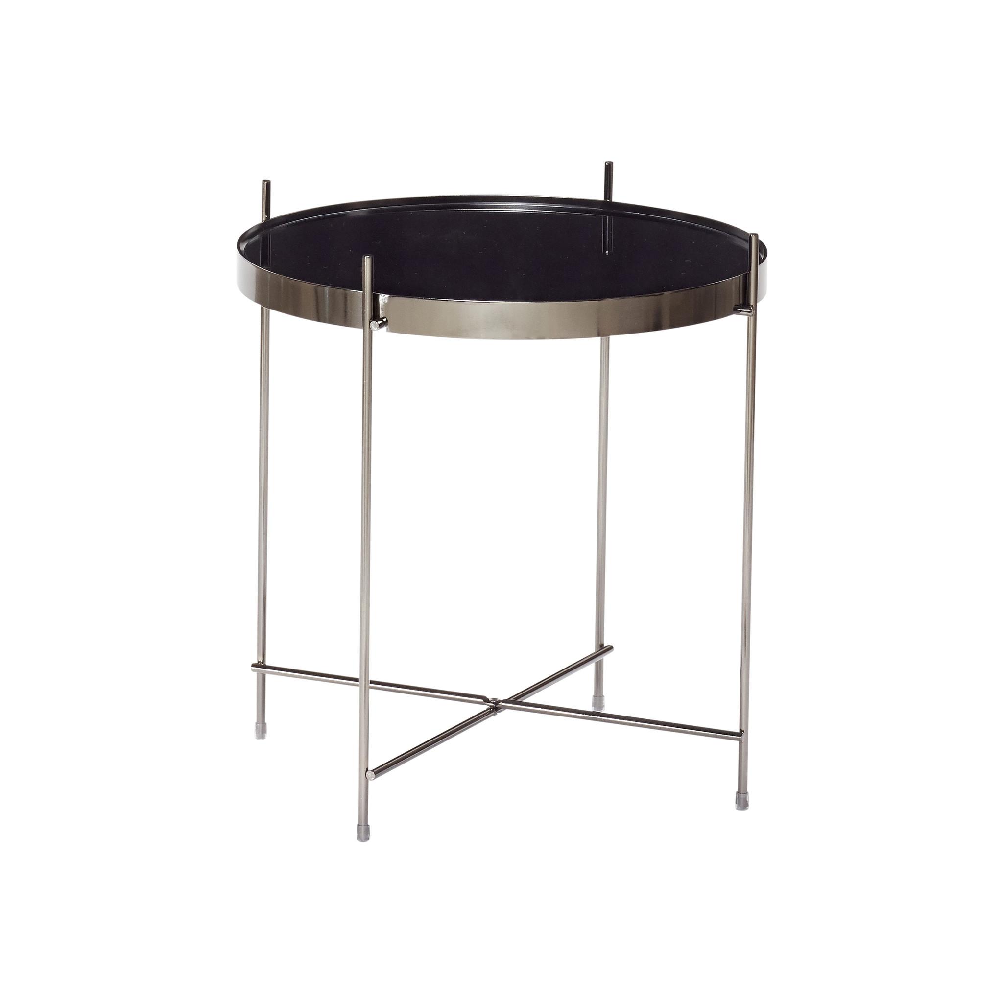 Hubsch Tafel, rond, metaal / spiegel-930402-5712772058565