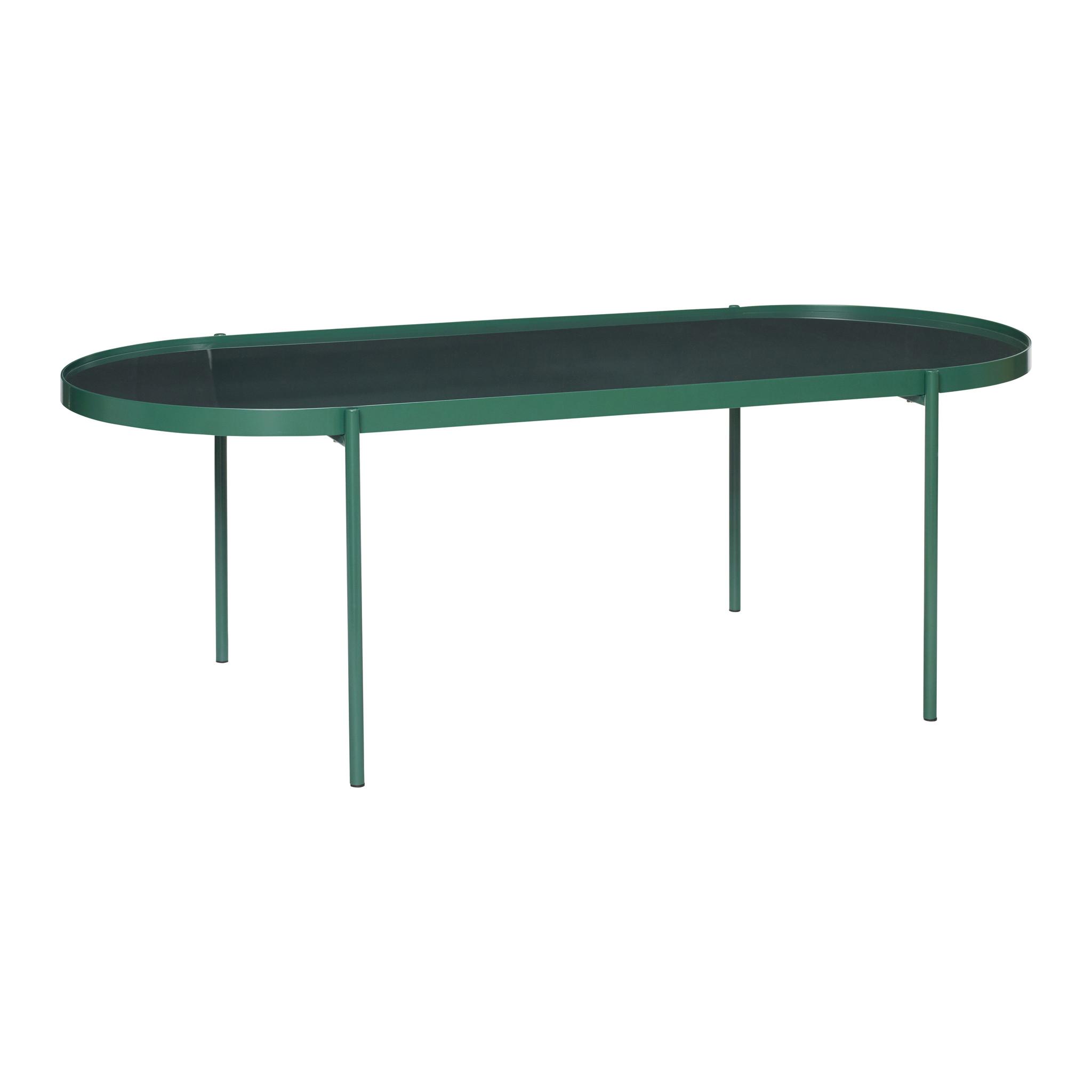 Hubsch Tafel, metaal / glas, groen-930801-5712772060100