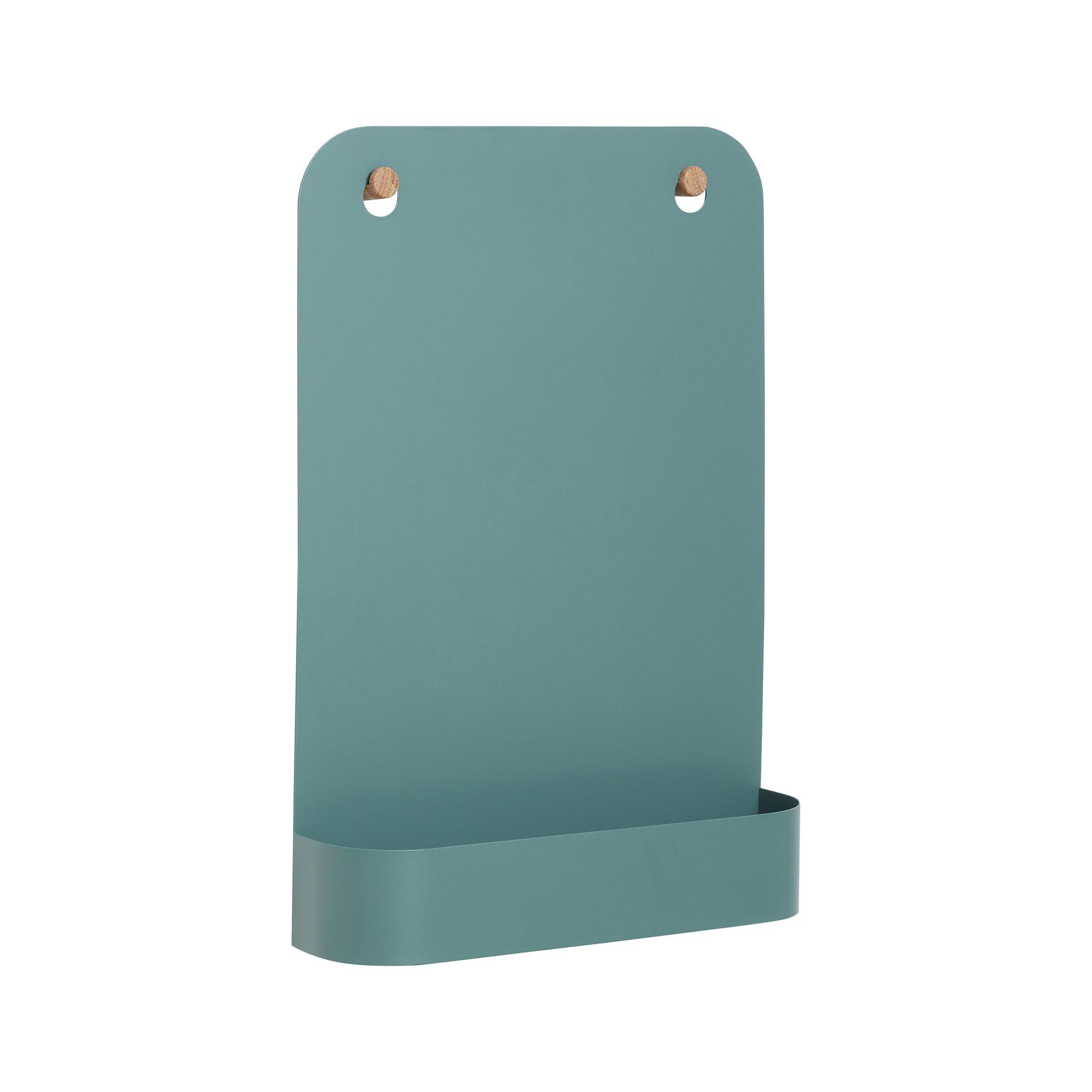 Hubsch Magnetisch schoolbord met knop, metaal / eik, groen-940605-5712772063385