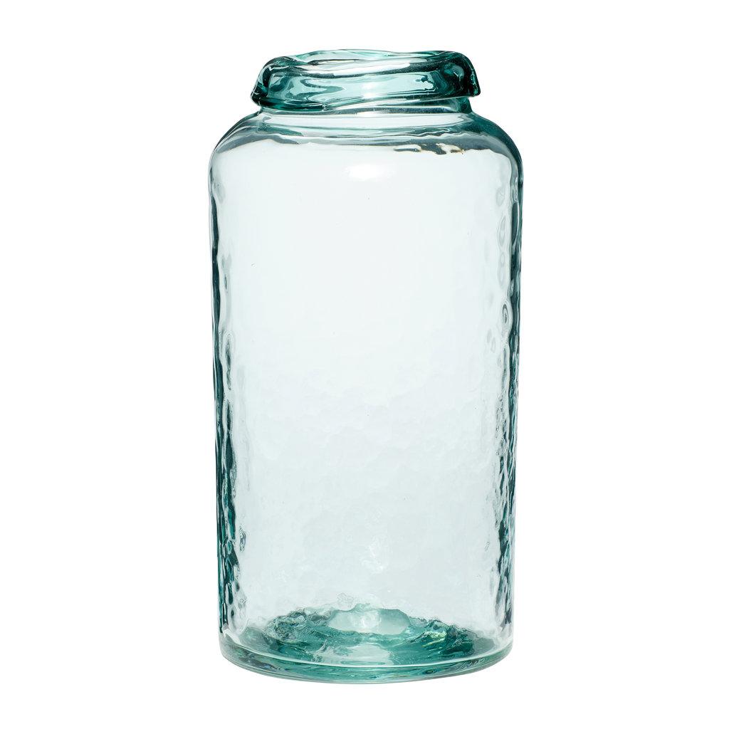 Hubsch Vaas, glas, groen, groot - 950208