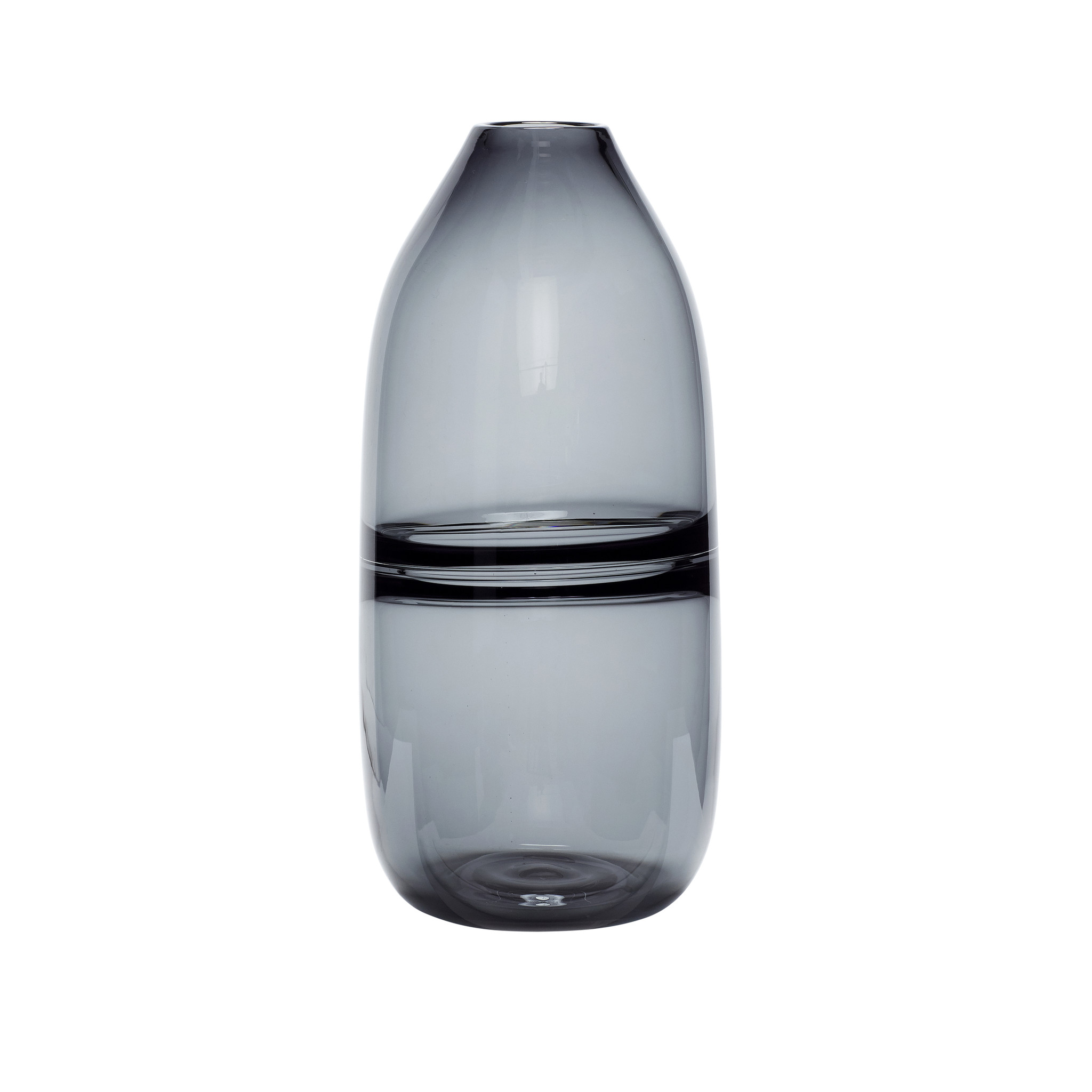 Hubsch Vaas, glas, grijs
