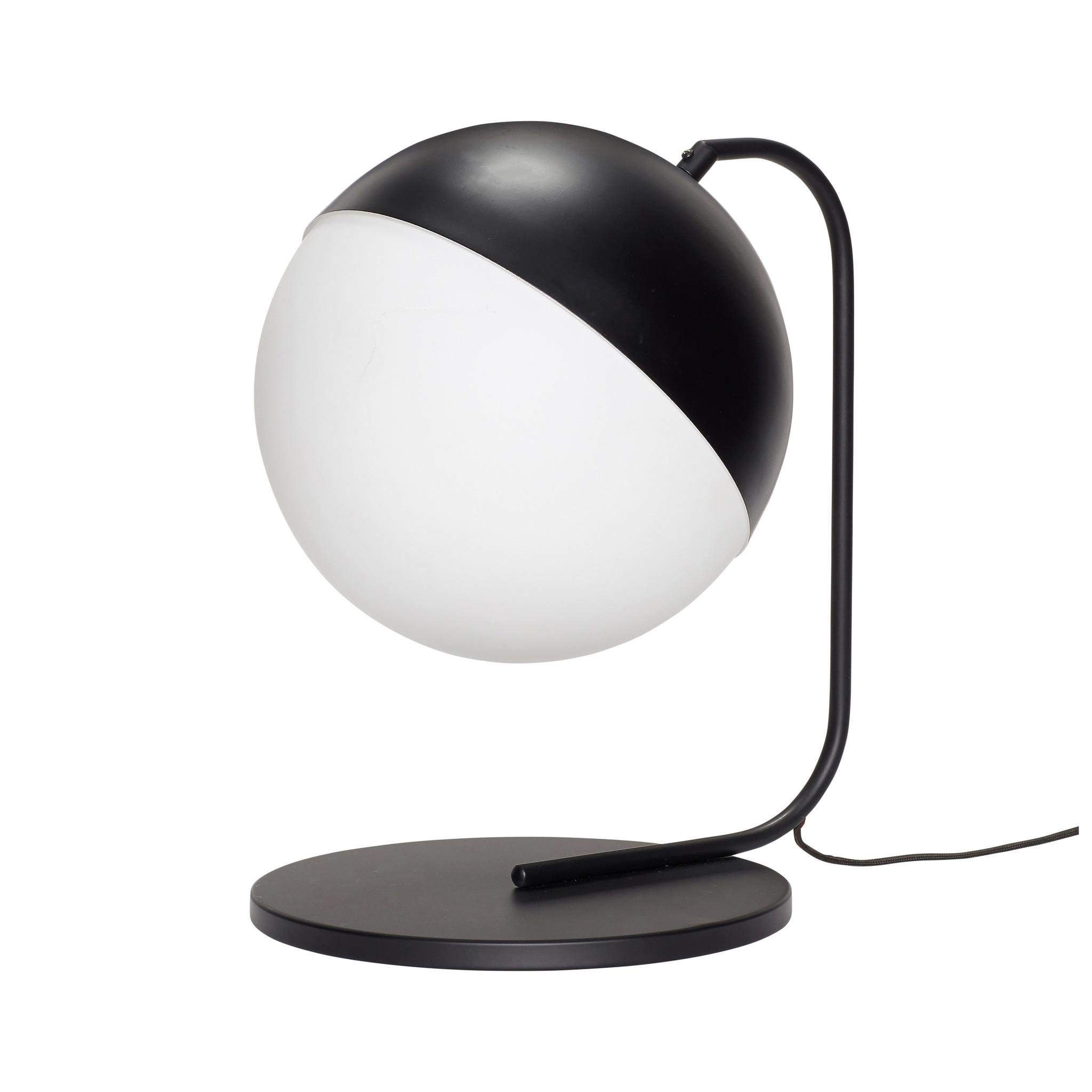 Hubsch Tafellamp, metaal, zwart / wit