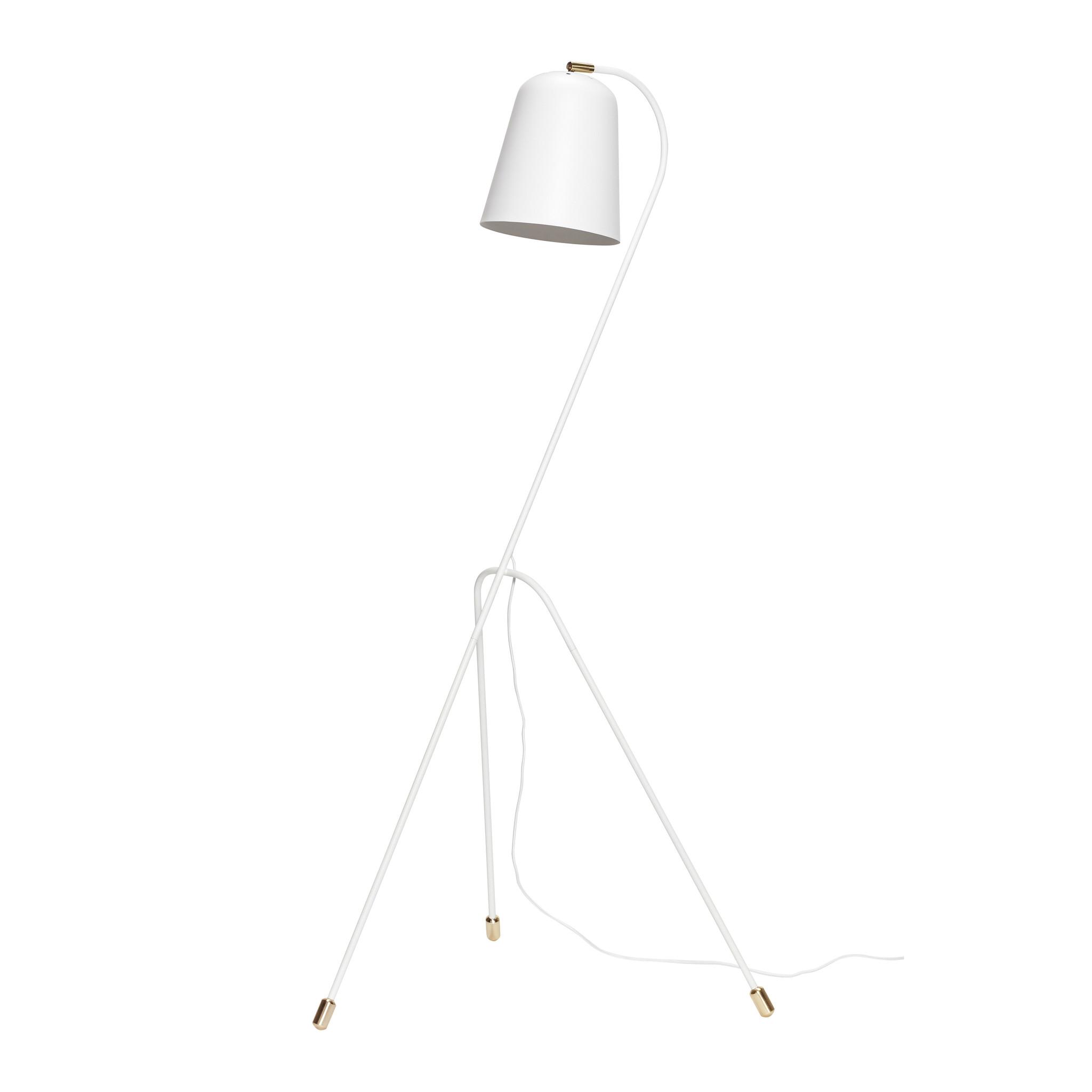 Hubsch Staande lamp, metaal, wit / messing-990606-5712772063781